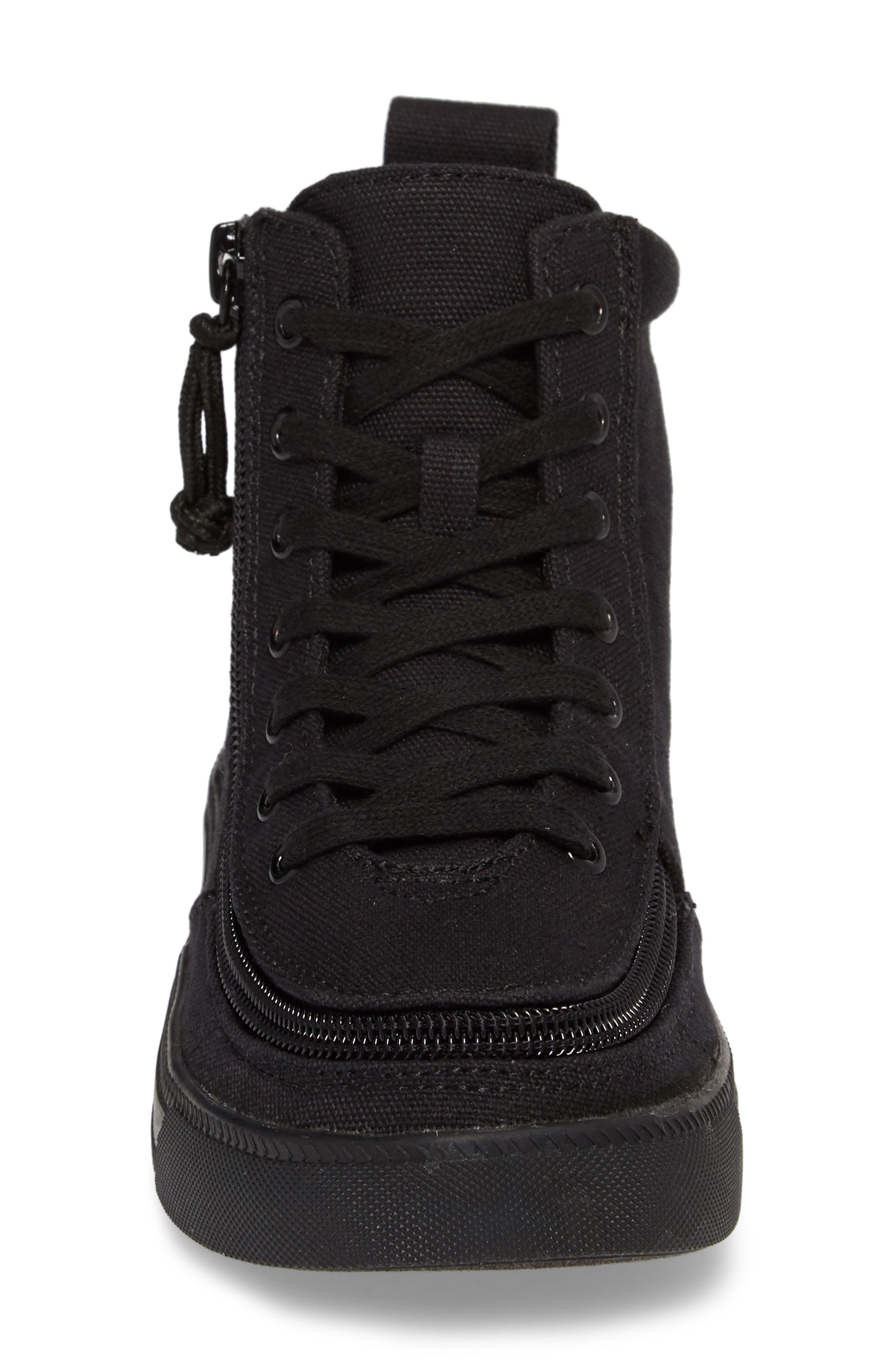 BILLY FOOTWEAR, Classic Hi-Rise Sneaker, Alternate thumbnail 5, color, BLACK TO THE FLOOR