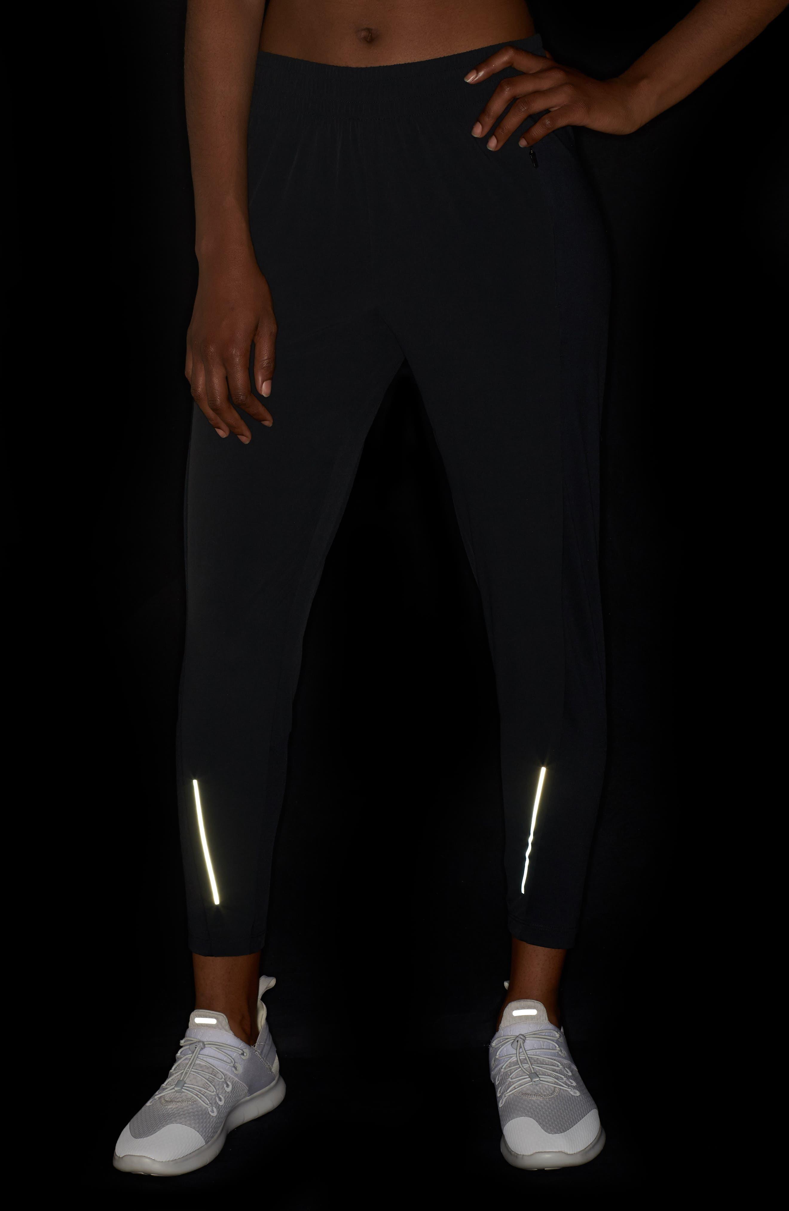 NIKE, Swift Running Pants, Alternate thumbnail 5, color, BLACK/ REFLECTIVE SILVER