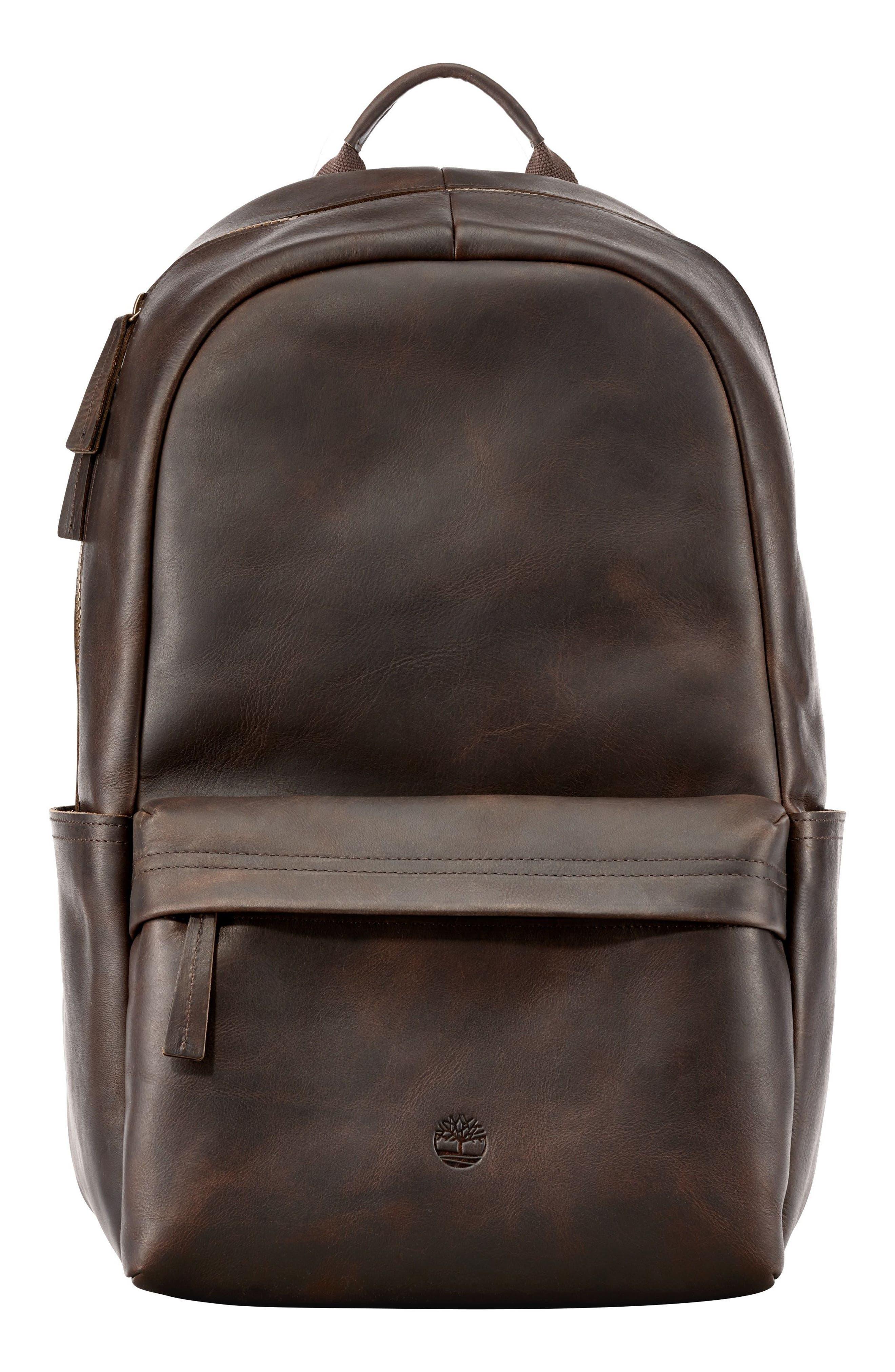 TIMBERLAND, Tuckerman Leather Backpack, Main thumbnail 1, color, 200