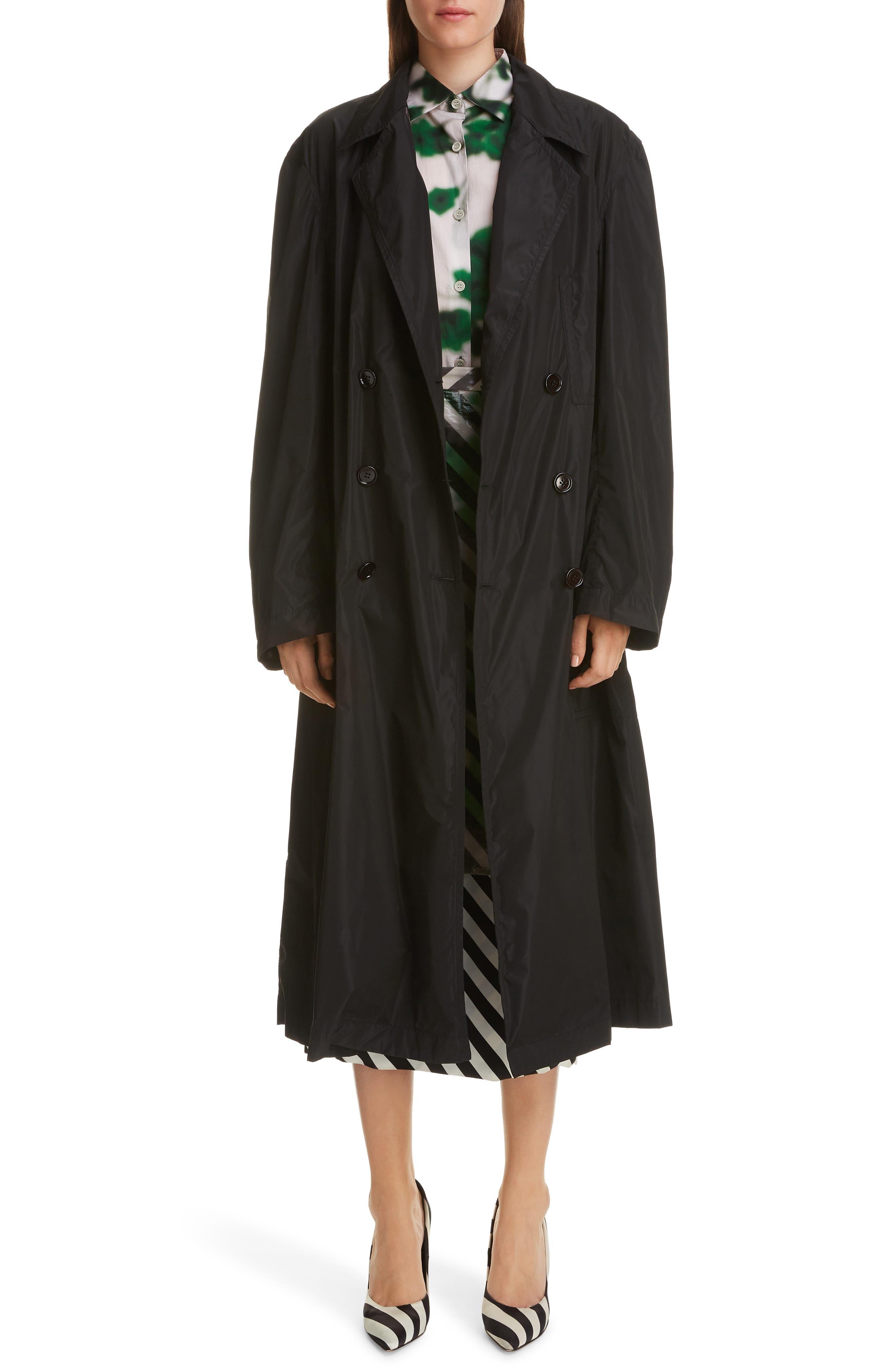 DRIES VAN NOTEN, Dires Van Noten Painted Overlay Silk Blend Pencil Skirt, Alternate thumbnail 6, color, 604-GREEN