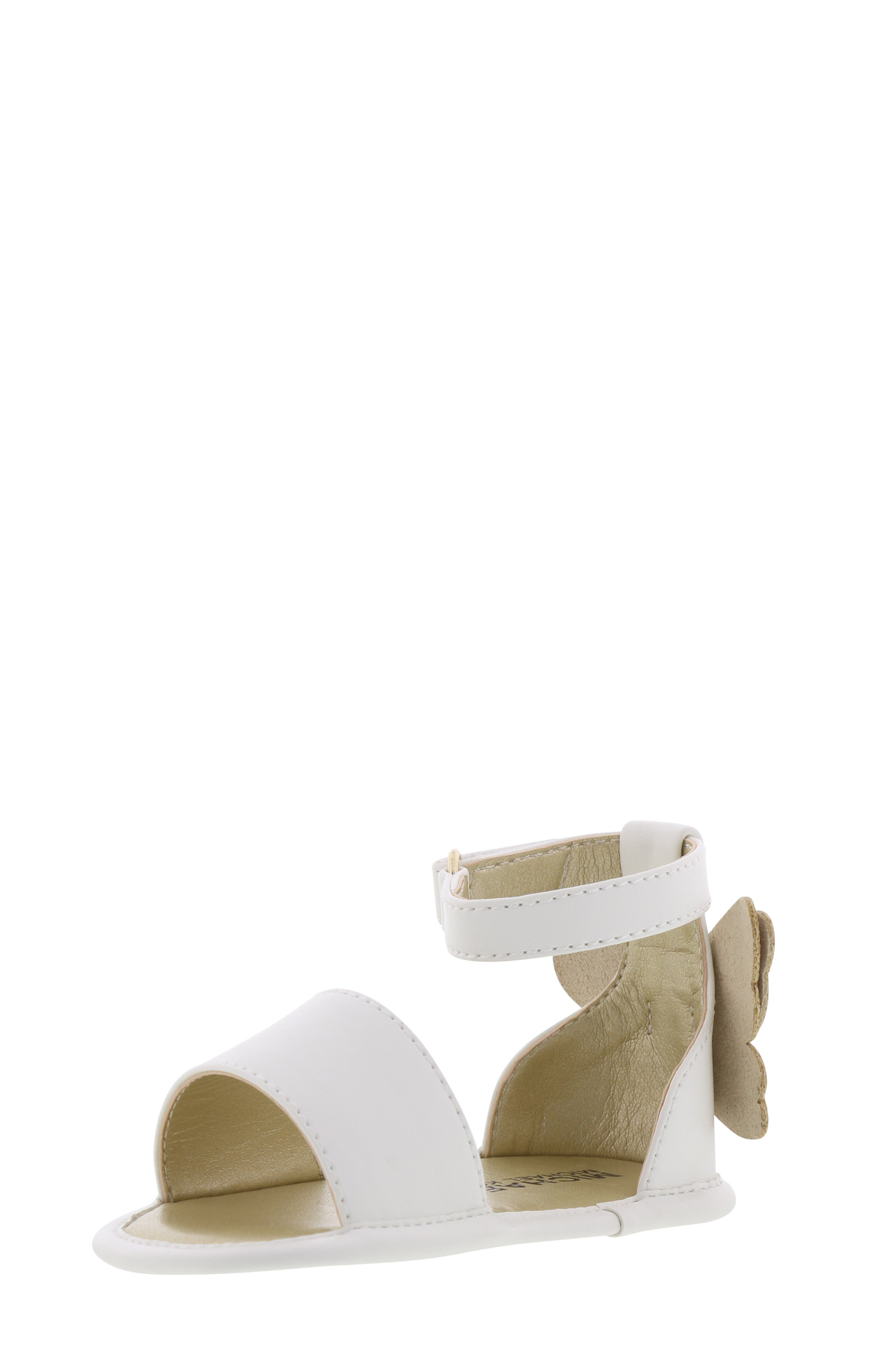 MICHAEL MICHAEL KORS, Tilly Sansa Glitter Sandal, Alternate thumbnail 9, color, WHITE