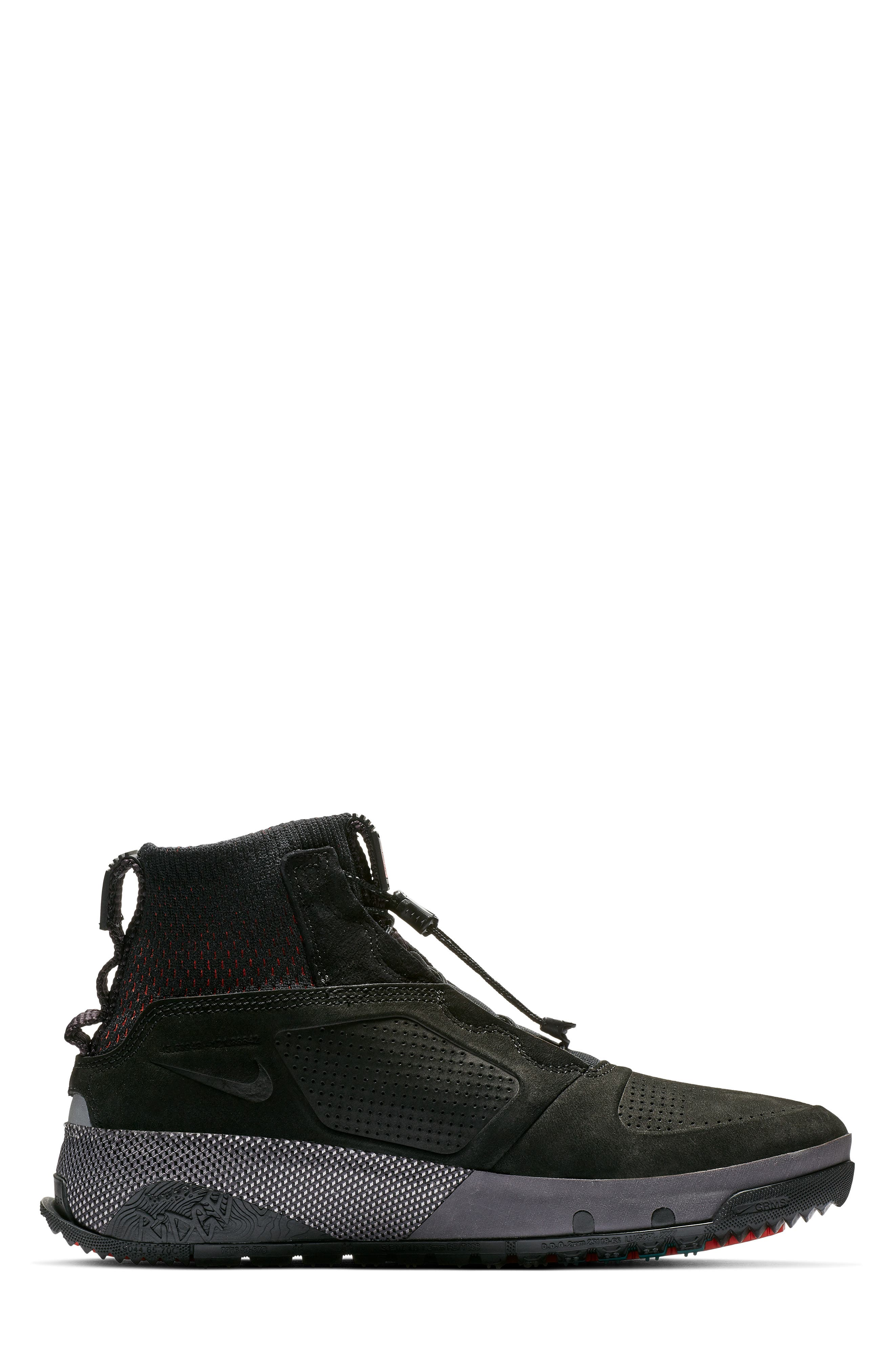 NIKE, ACG Ruckel Ridge Sneaker, Alternate thumbnail 6, color, 002