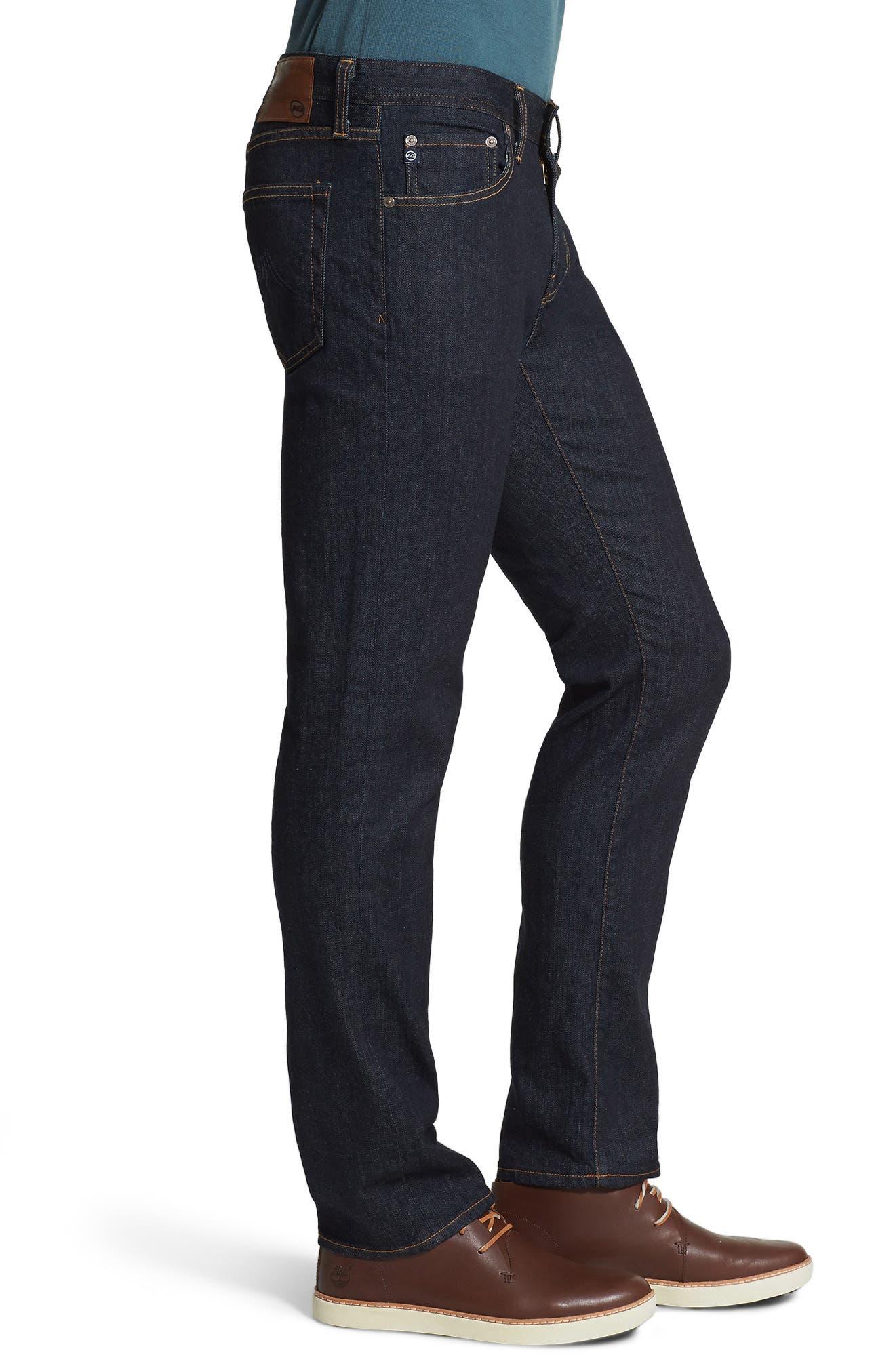 AG, 'Graduate' Slim Straight Leg Jeans, Alternate thumbnail 8, color, JACK