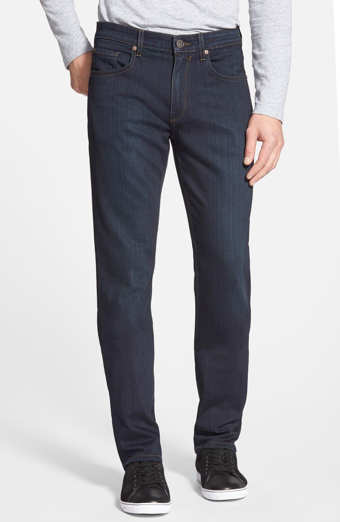 PAIGE, Transcend - Federal Slim Straight Leg Jeans, Main thumbnail 1, color, CELLAR/ CELLAR