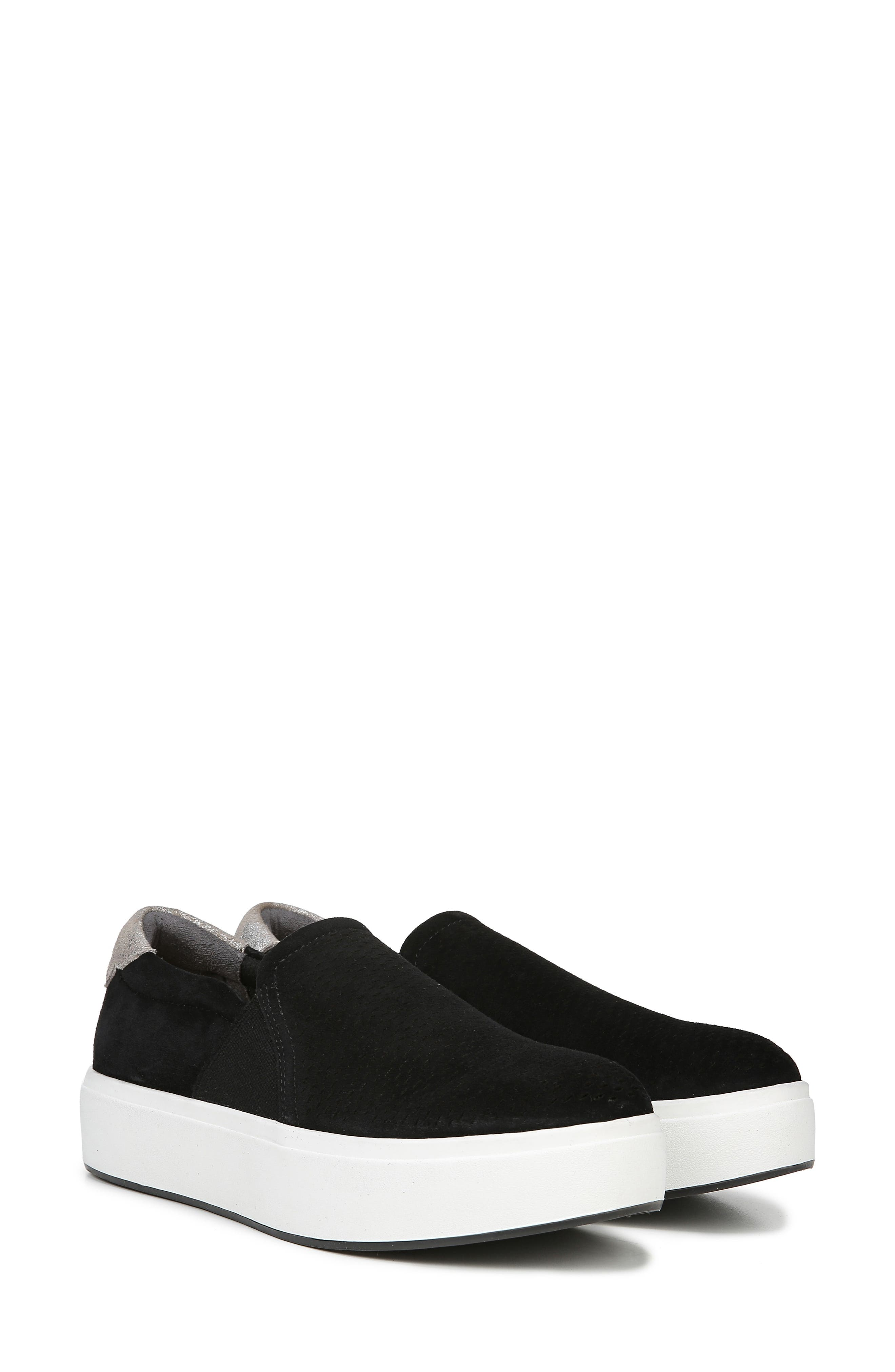 DR. SCHOLL'S, Abbot Lux Sneaker, Alternate thumbnail 9, color, BLACK SUEDE