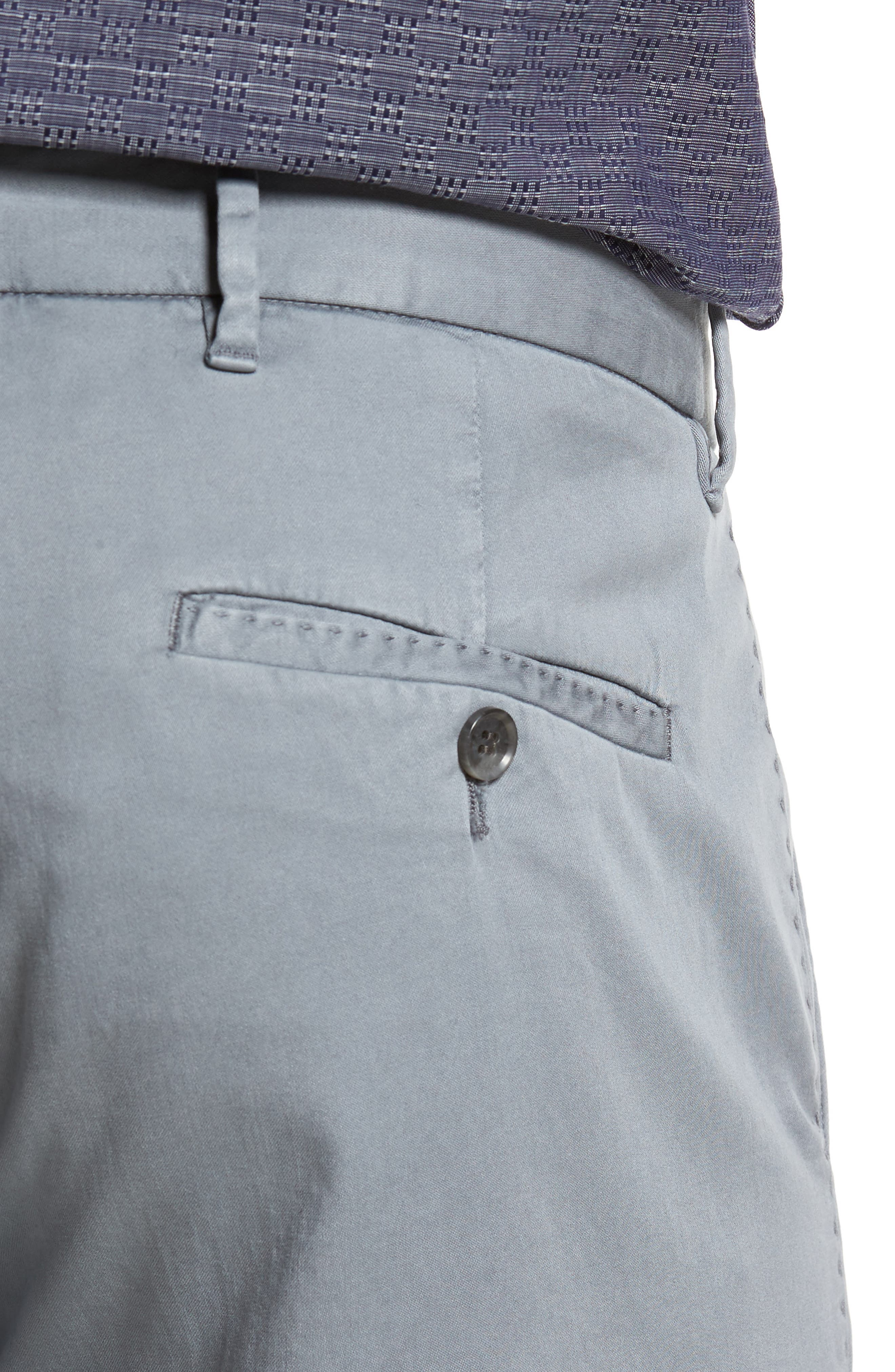 ZACHARY PRELL, Aster Straight Fit Pants, Alternate thumbnail 5, color, GREY