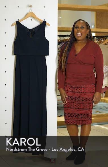 Tie Back Crepe Gown, sales video thumbnail