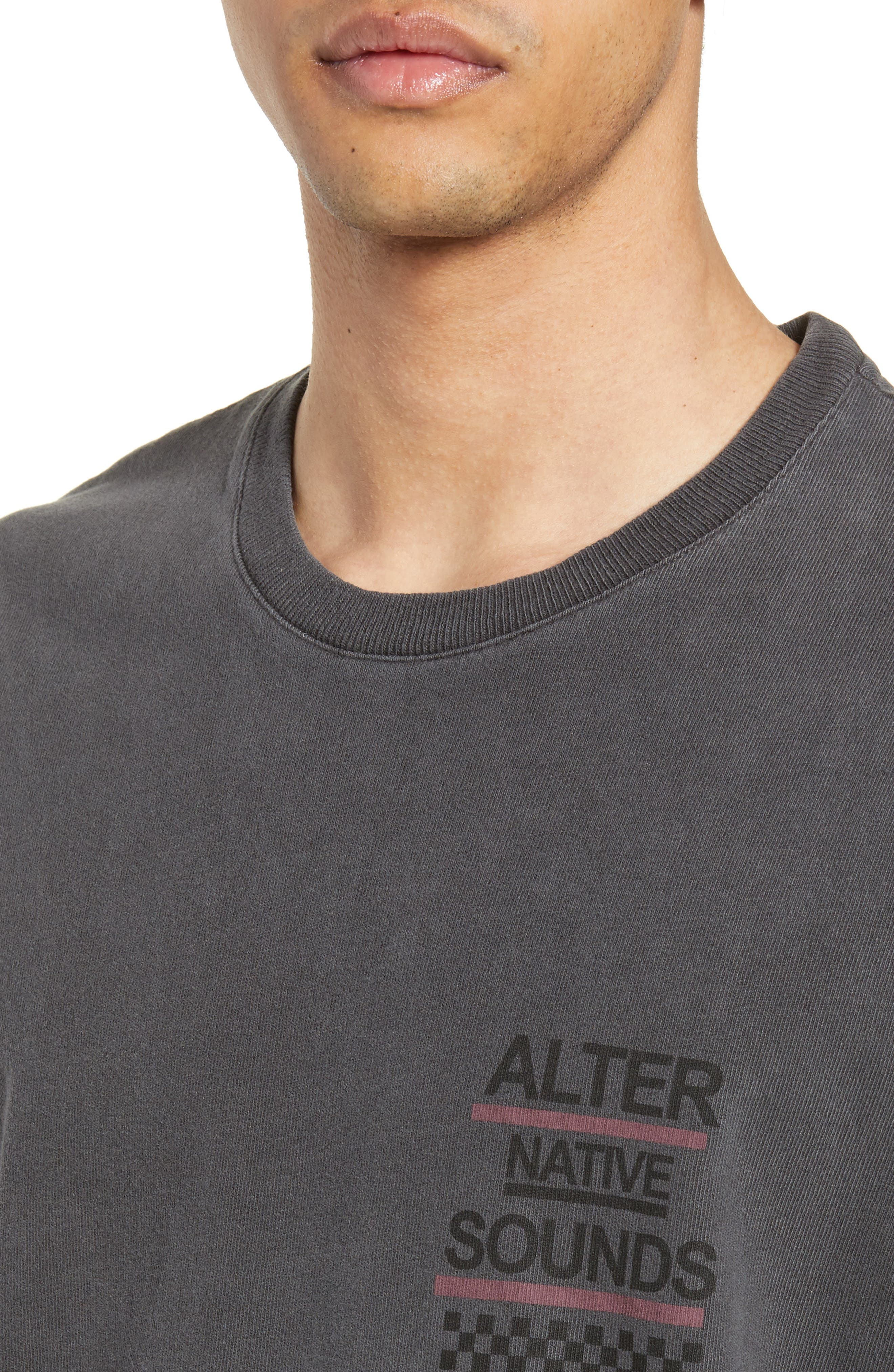 THE KOOPLES, Graphic T-Shirt, Alternate thumbnail 4, color, WASHED GREY