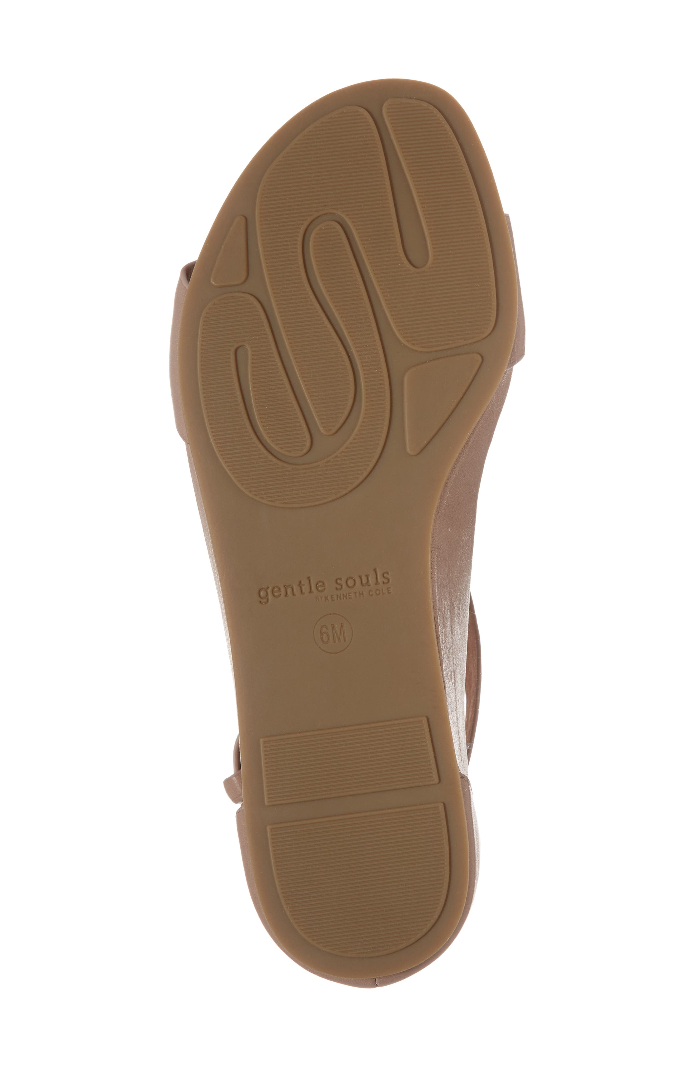 GENTLE SOULS BY KENNETH COLE, Gisele Wedge Sandal, Alternate thumbnail 6, color, PUTTY LEATHER