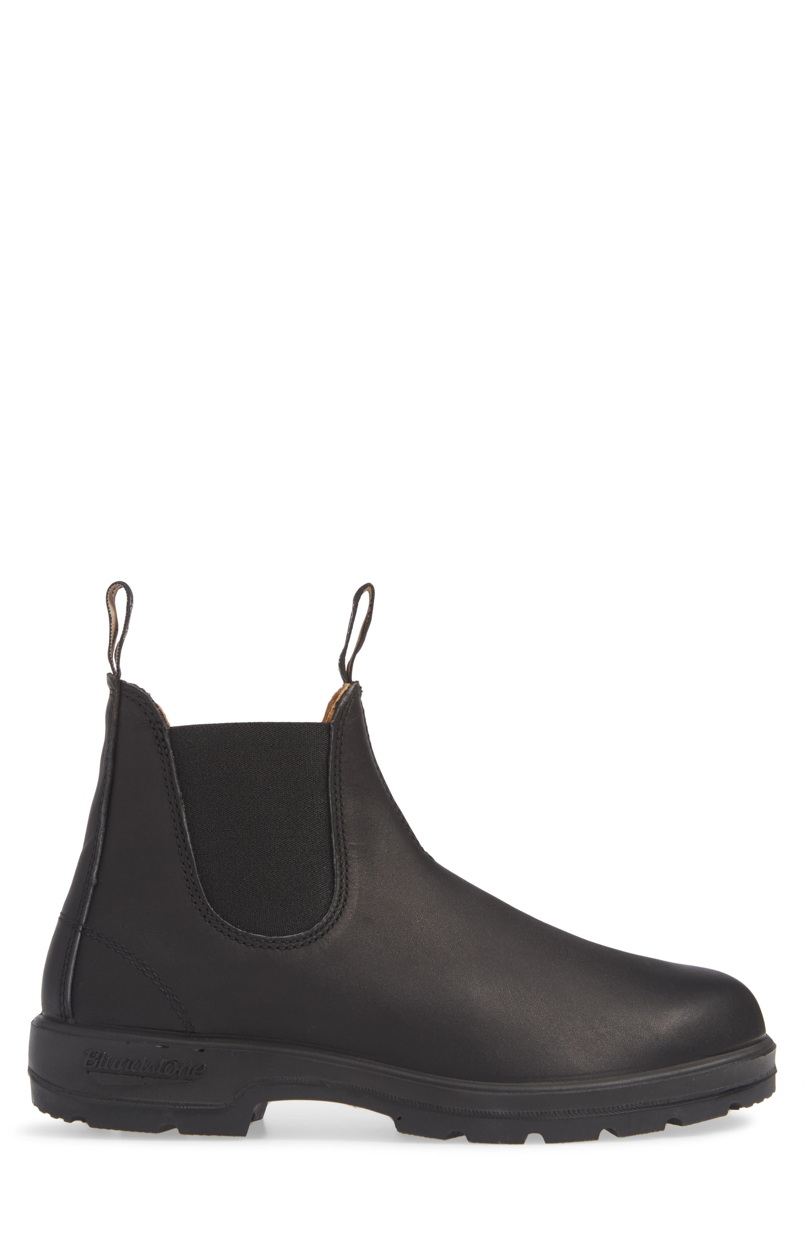 BLUNDSTONE FOOTWEAR, Chelsea Boot, Alternate thumbnail 3, color, BLACK