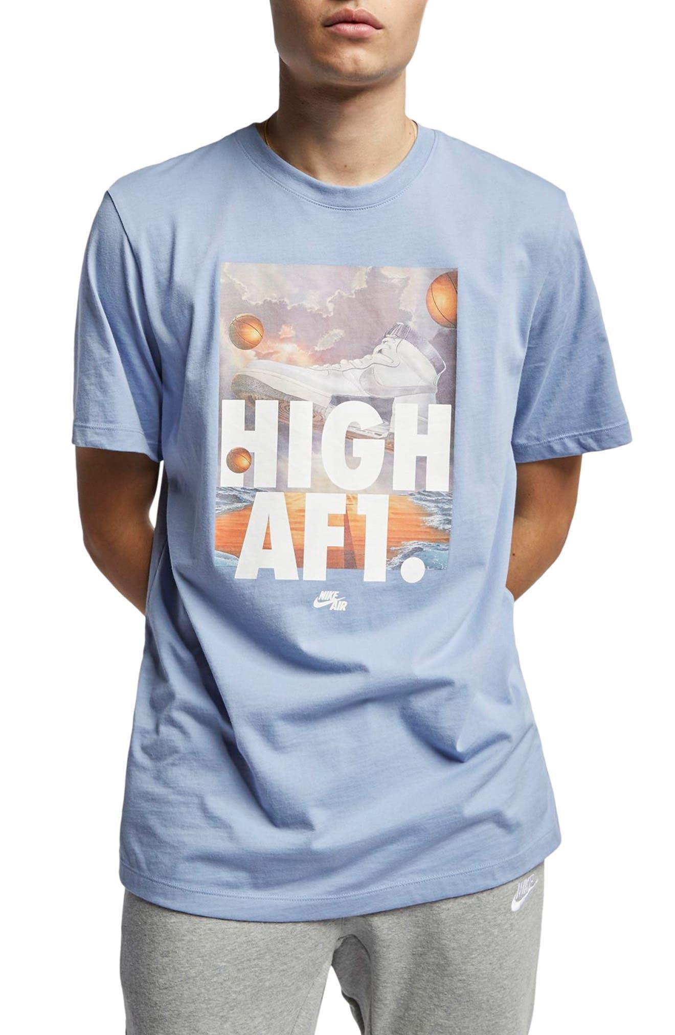 3f24b972ab8 Nike Air Force 1 T-Shirt Blue