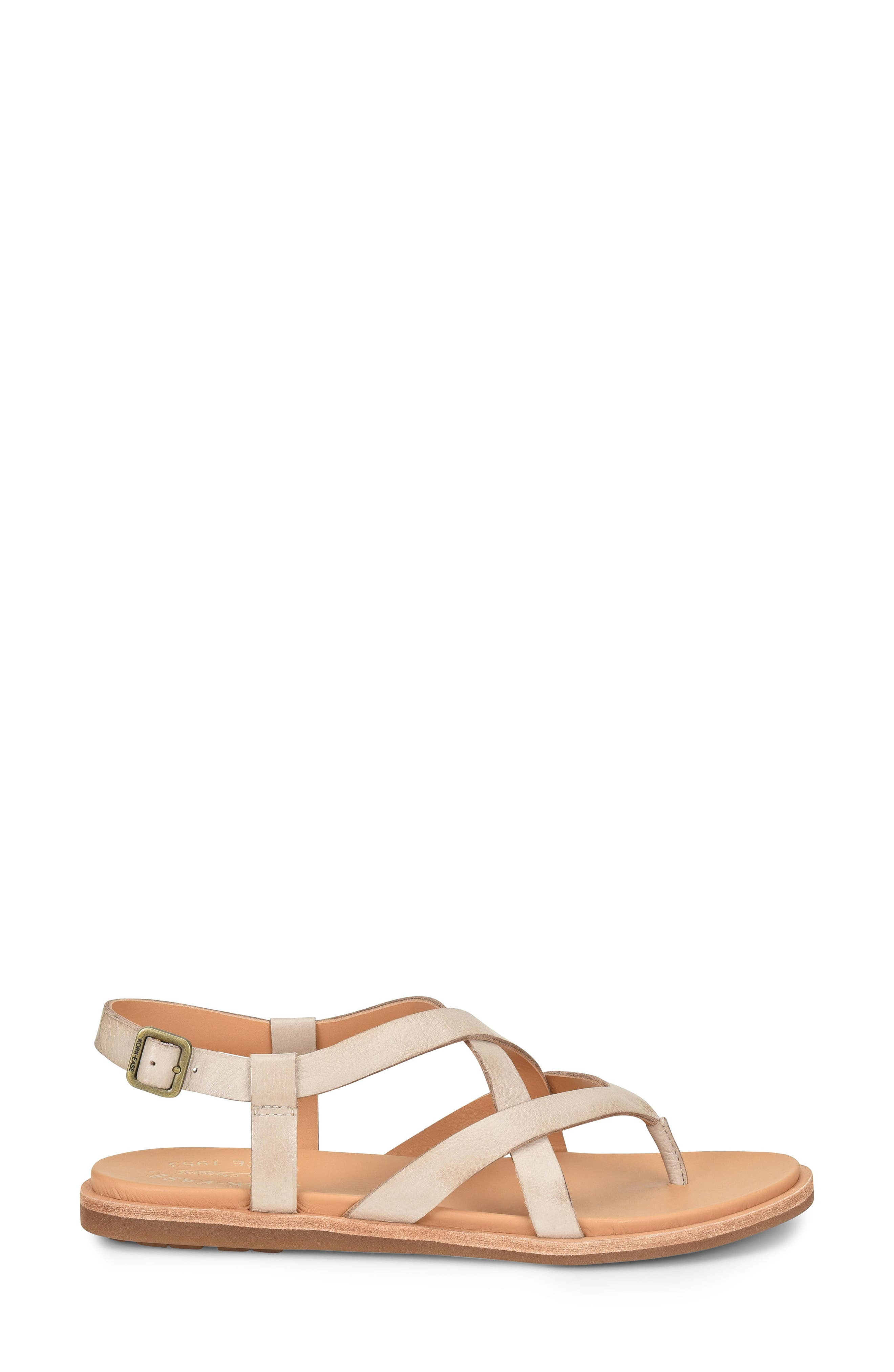 KORK-EASE<SUP>®</SUP>, Yarbrough Sandal, Alternate thumbnail 3, color, LIGHT GREY LEATHER