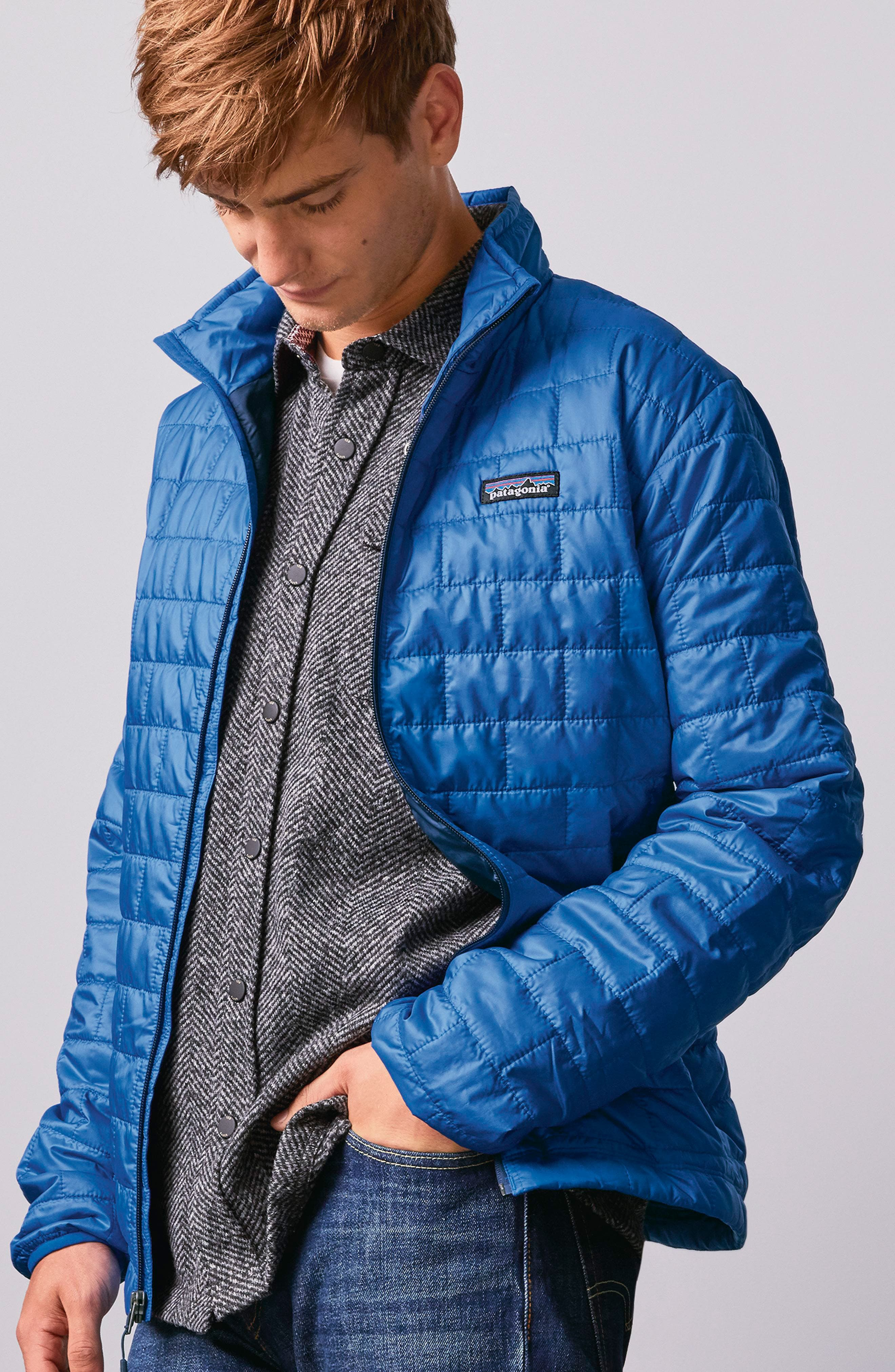 PATAGONIA, 'Nano Puff<sup>®</sup>' Water Resistant Jacket, Alternate thumbnail 11, color, BLACK