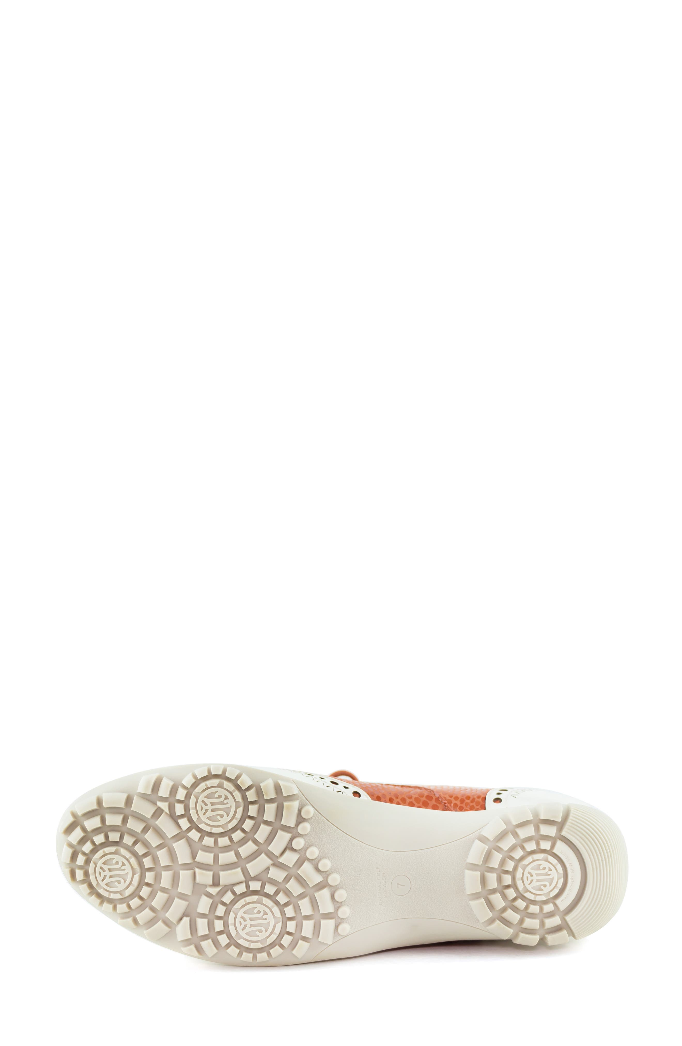 MARC JOSEPH NEW YORK, NYC Golf Loafer, Alternate thumbnail 6, color, CORAL SNAKE PRINT LEATHER