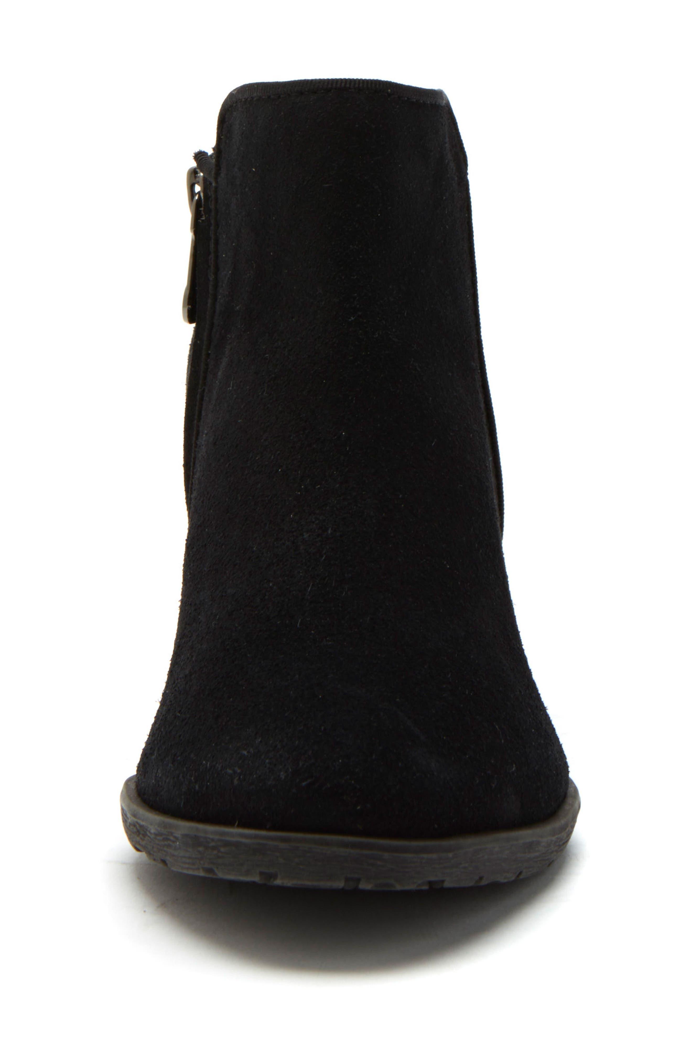 BLONDO, Villa Waterproof Boot, Alternate thumbnail 3, color, BLACK SUEDE