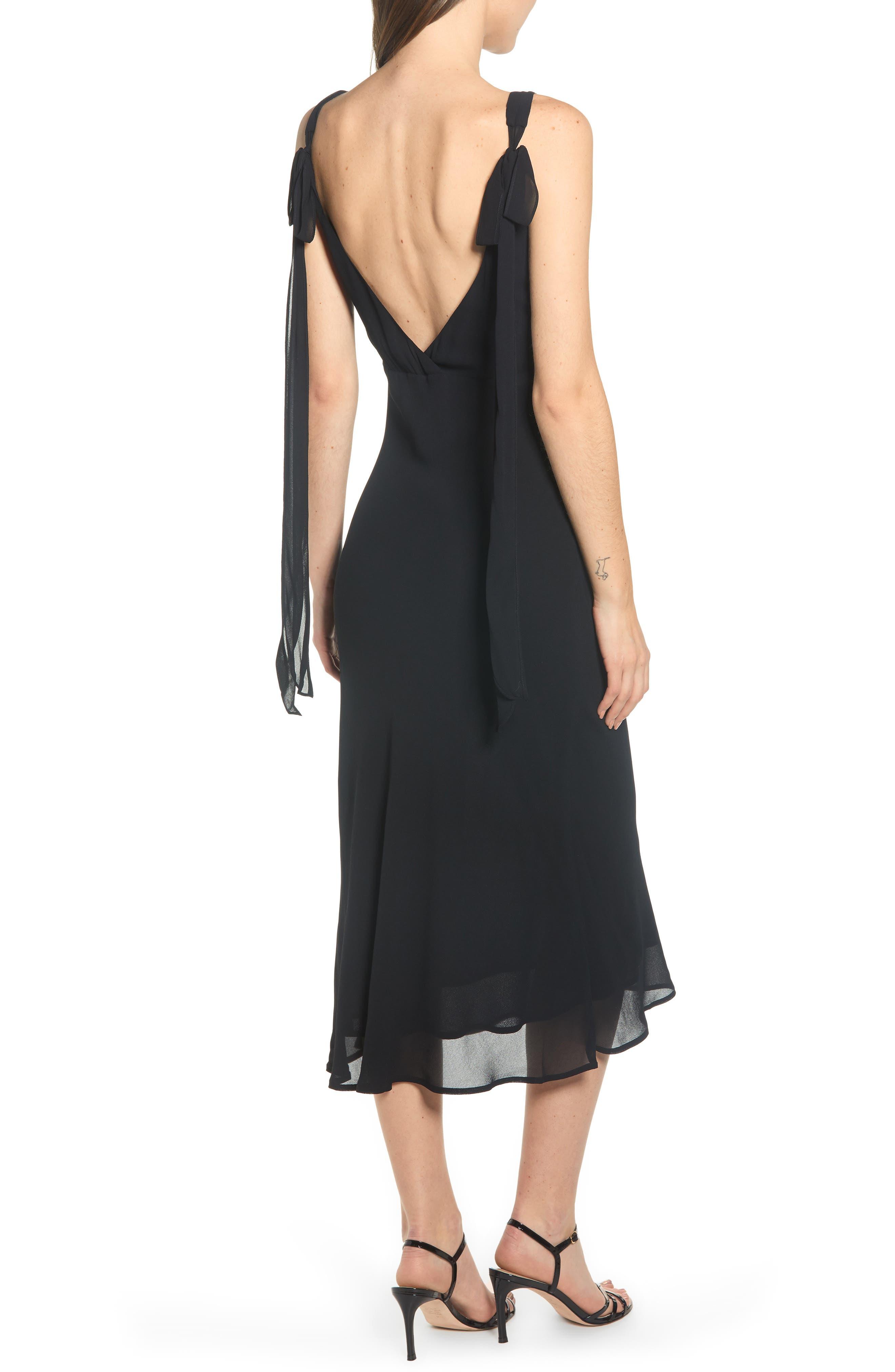 REFORMATION, Venezia Dress, Alternate thumbnail 2, color, BLACK