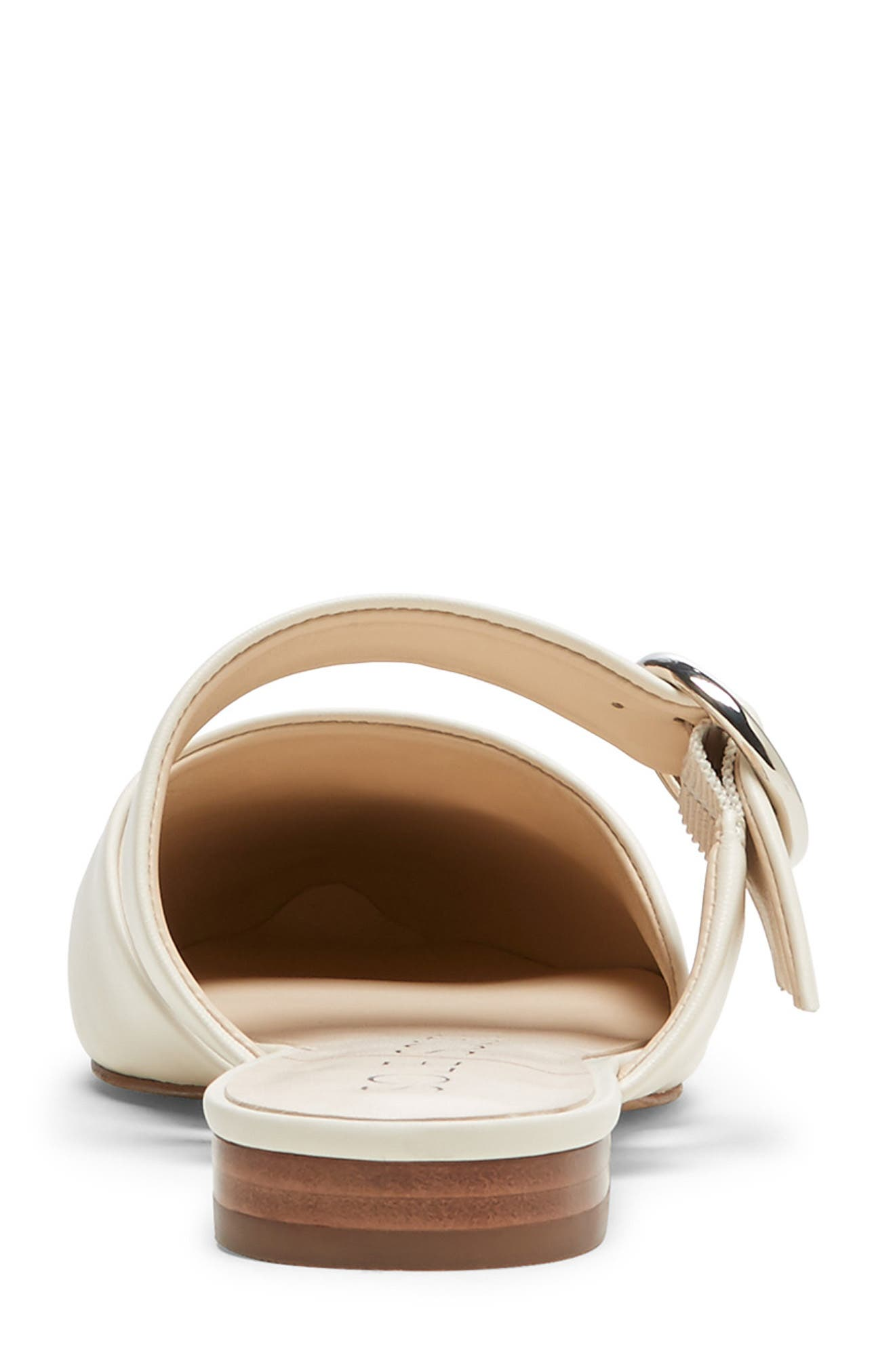 SOLE SOCIETY, Pravar Strappy Pointy Toe Mule, Alternate thumbnail 4, color, CREAM LEATHER