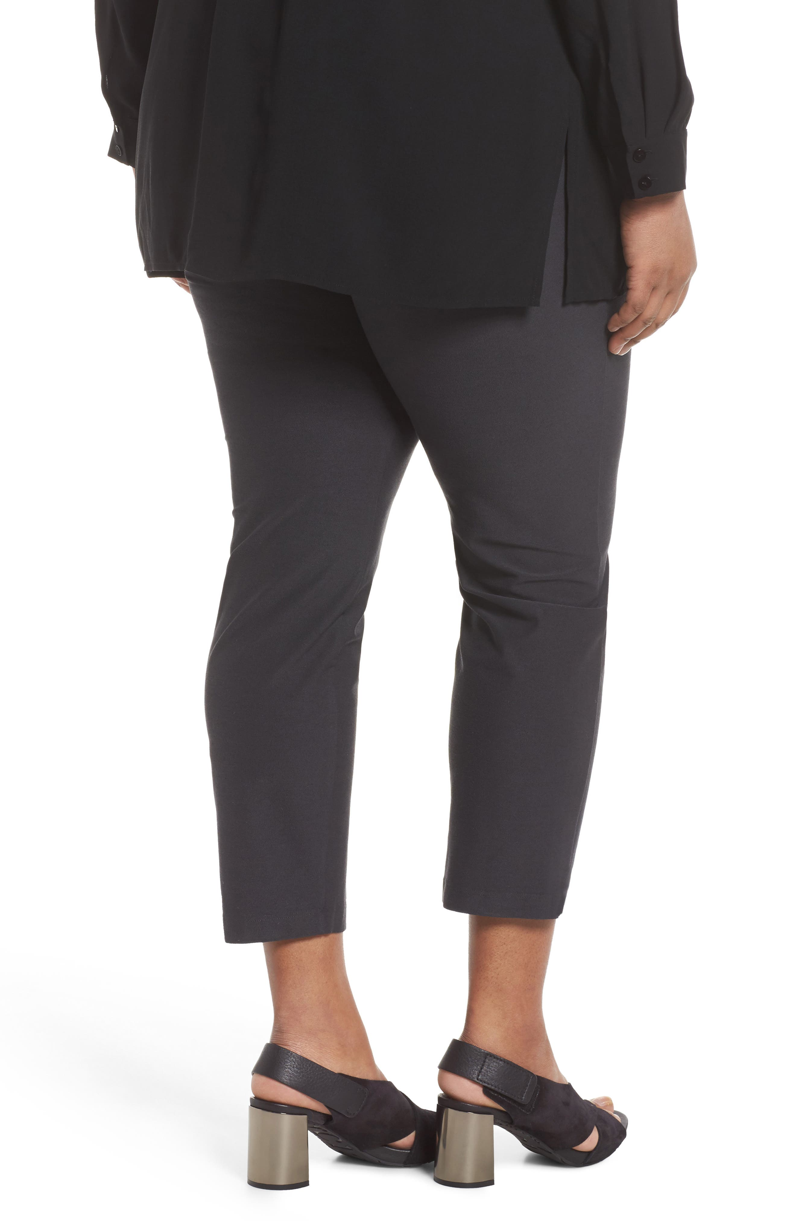 EILEEN FISHER, Slim Ankle Pants, Alternate thumbnail 2, color, 025