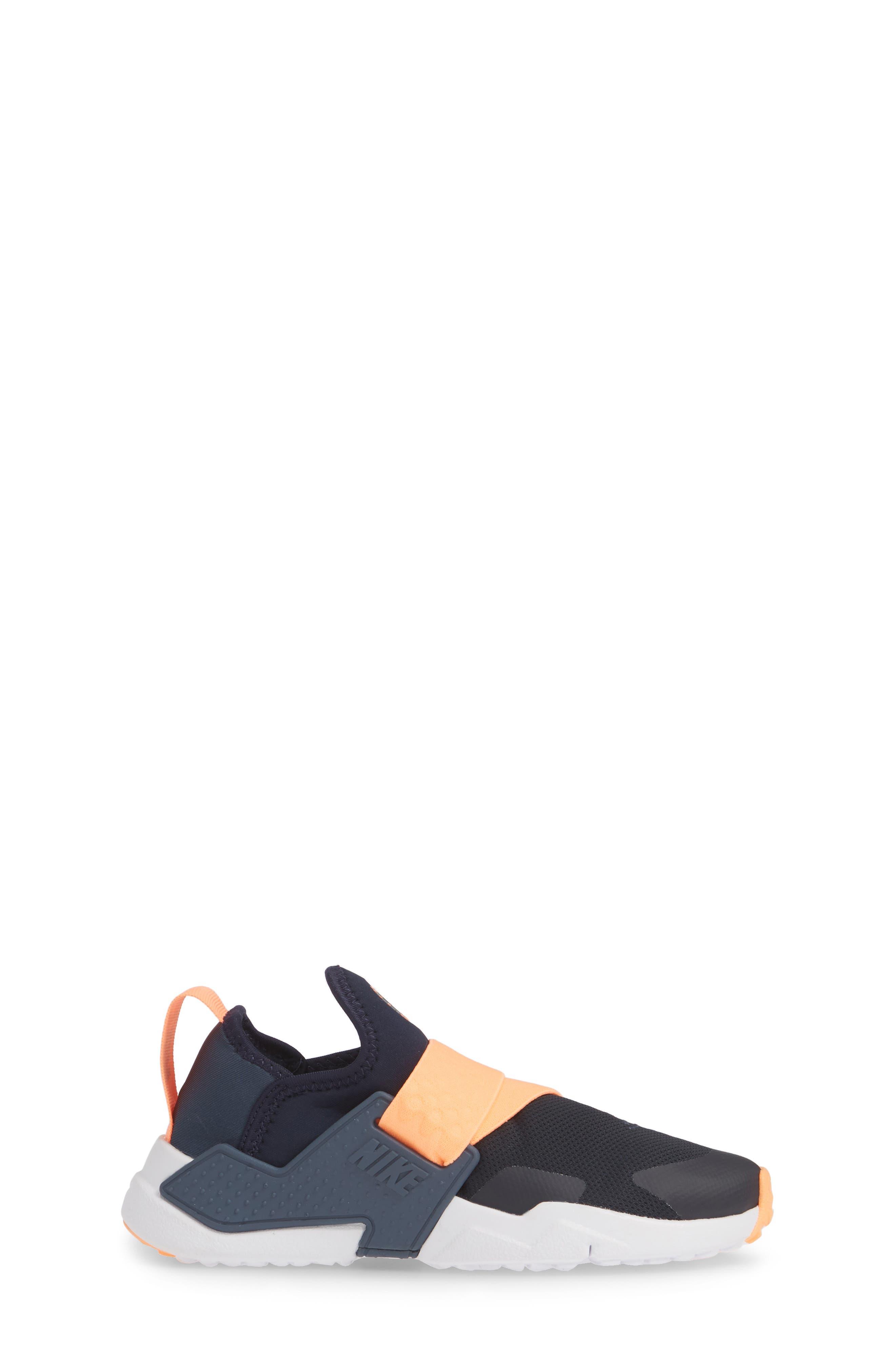 NIKE, Huarache Extreme Sneaker, Alternate thumbnail 3, color, OBSIDIAN/ POLARIZED BLUE-BLUE