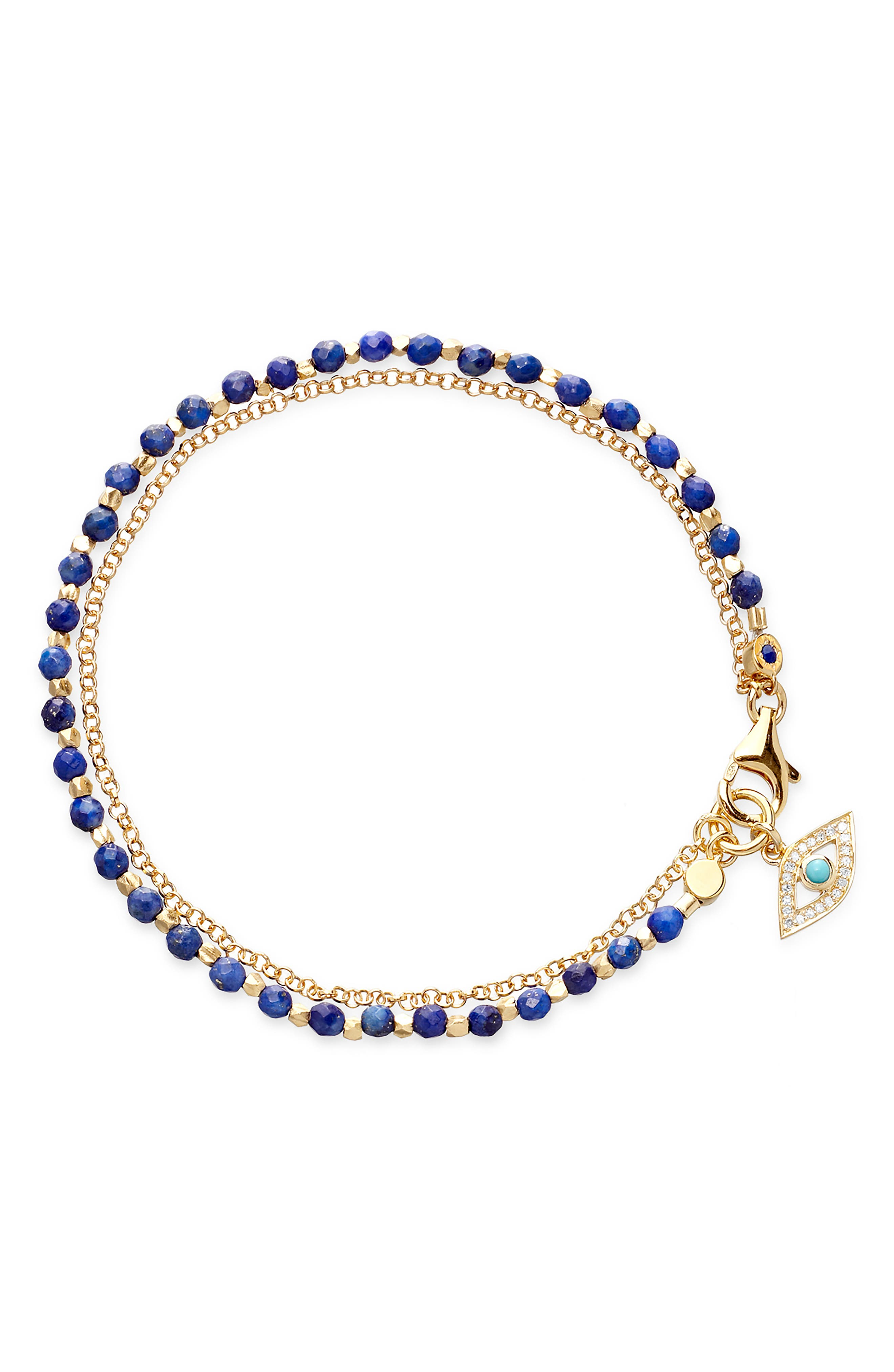 ASTLEY CLARKE, Evil Eye Biography Bracelet, Main thumbnail 1, color, YELLOW GOLD