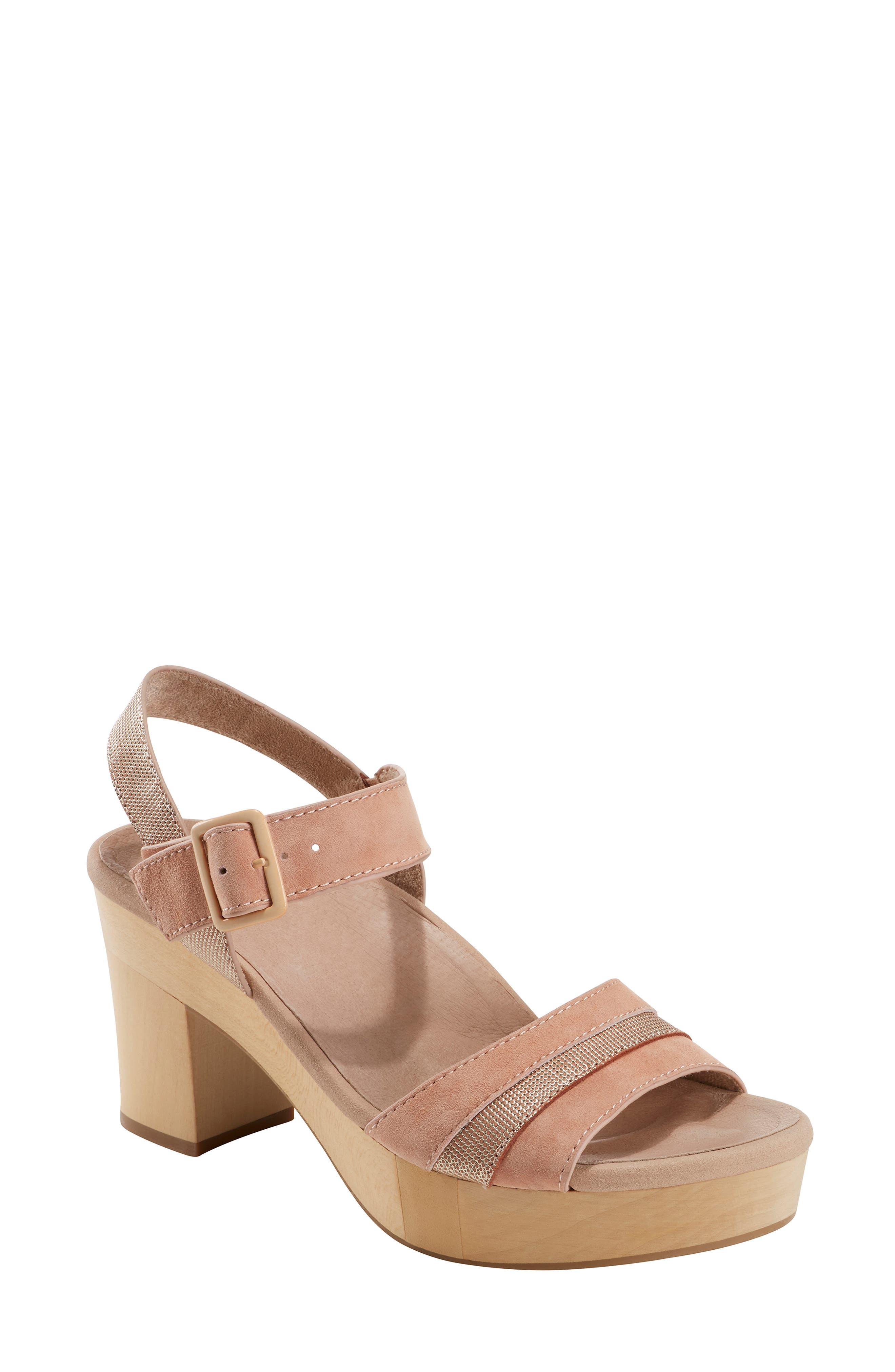 Earth Chestnut Platform Sandal- Pink
