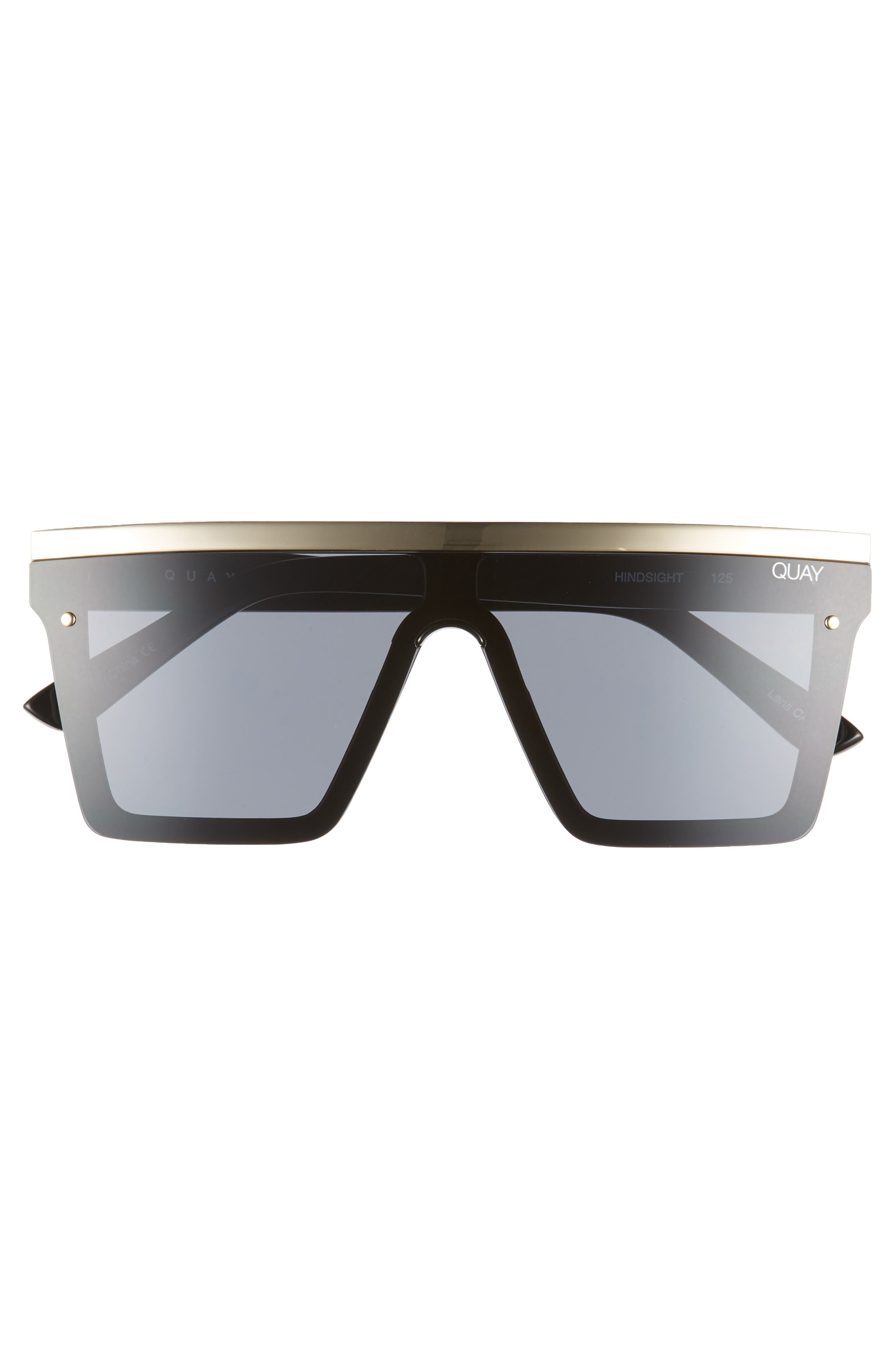 QUAY AUSTRALIA, Hindsight 150mm Shield Sunglasses, Alternate thumbnail 3, color, 005