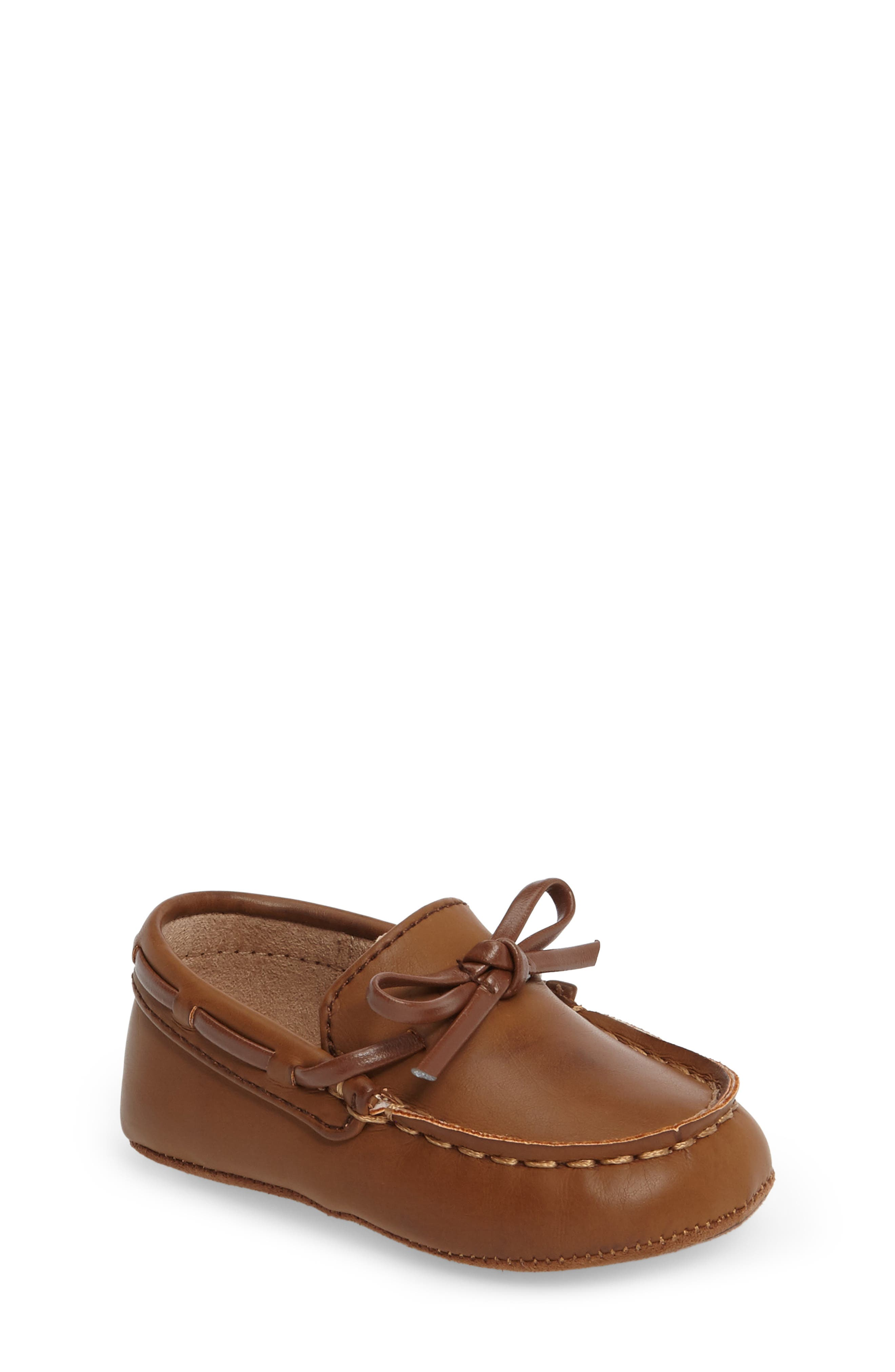 KENNETH COLE NEW YORK, Baby Boat Shoe, Main thumbnail 1, color, CARAMEL