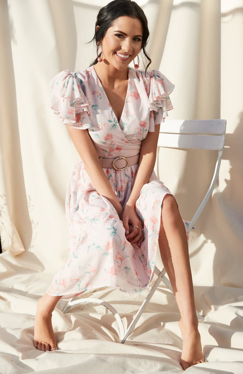 Rachel Parcell Tiered Ruffle Sleeve Dress (Nordstrom Exclusive) | Nordstrom