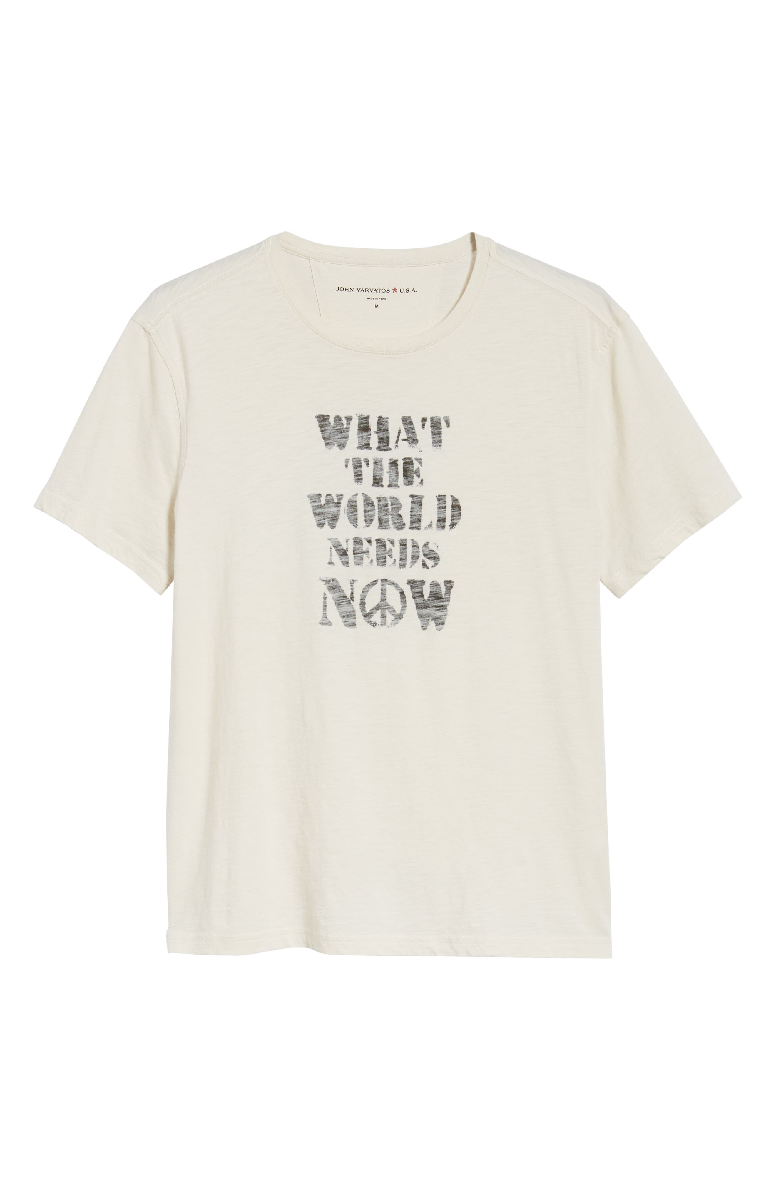 JOHN VARVATOS STAR USA, What the World Needs Now Graphic T-Shirt, Alternate thumbnail 6, color, 107