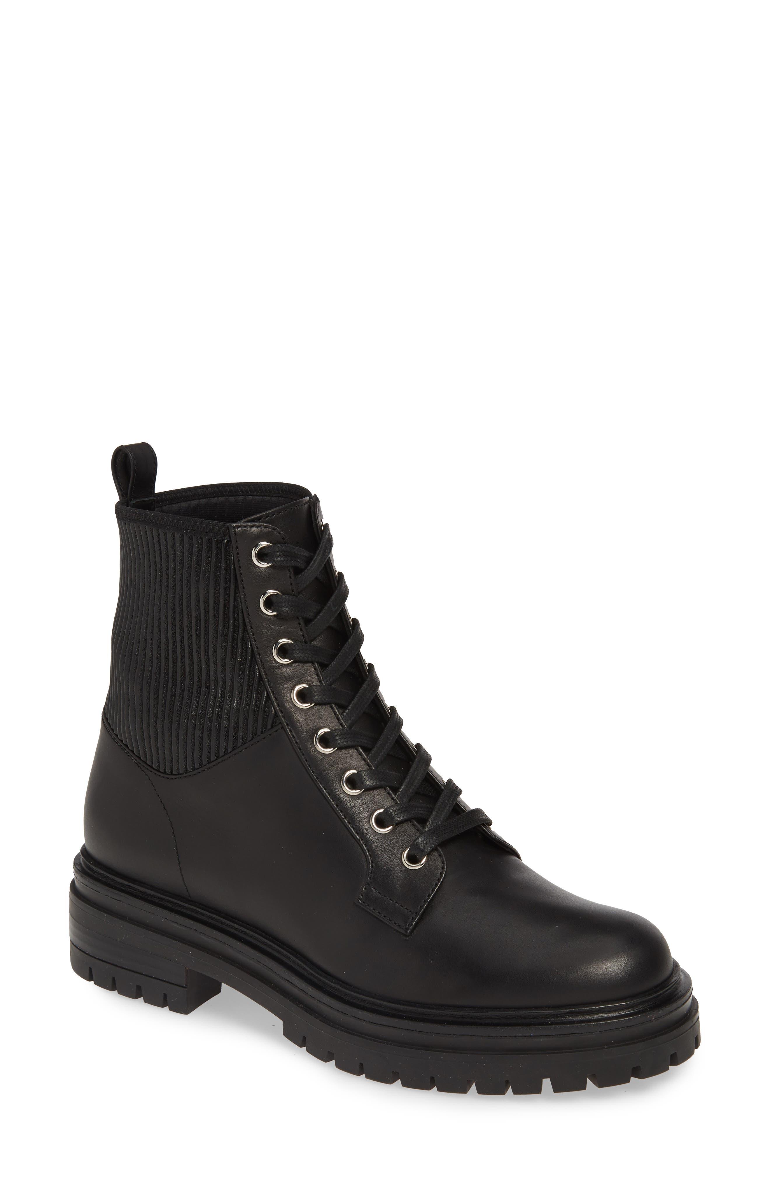 GIANVITO ROSSI Combat Boot, Main, color, BLACK