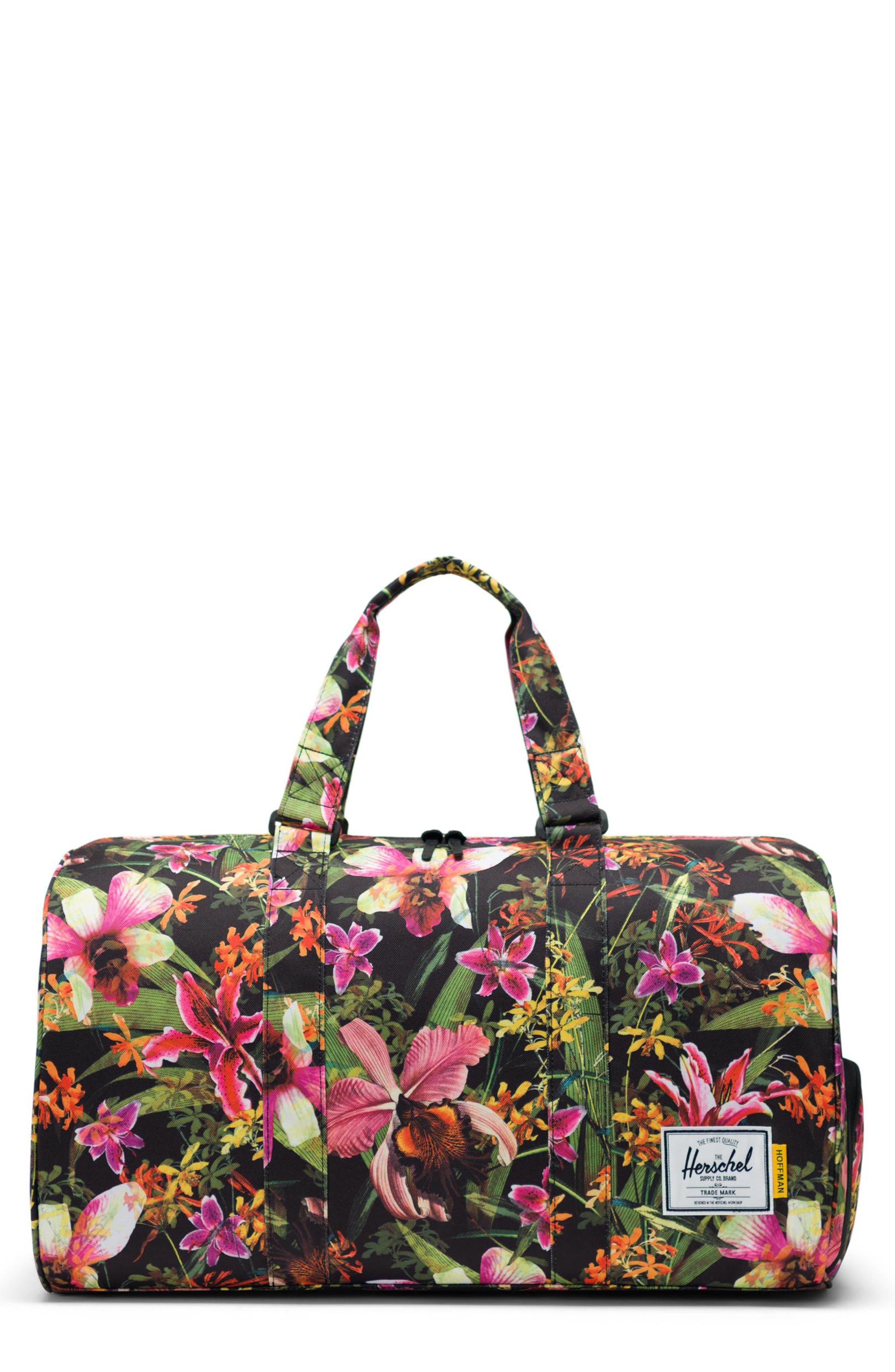 HERSCHEL SUPPLY CO. Novel Duffle Bag, Main, color, JUNGLE HOFFMAN