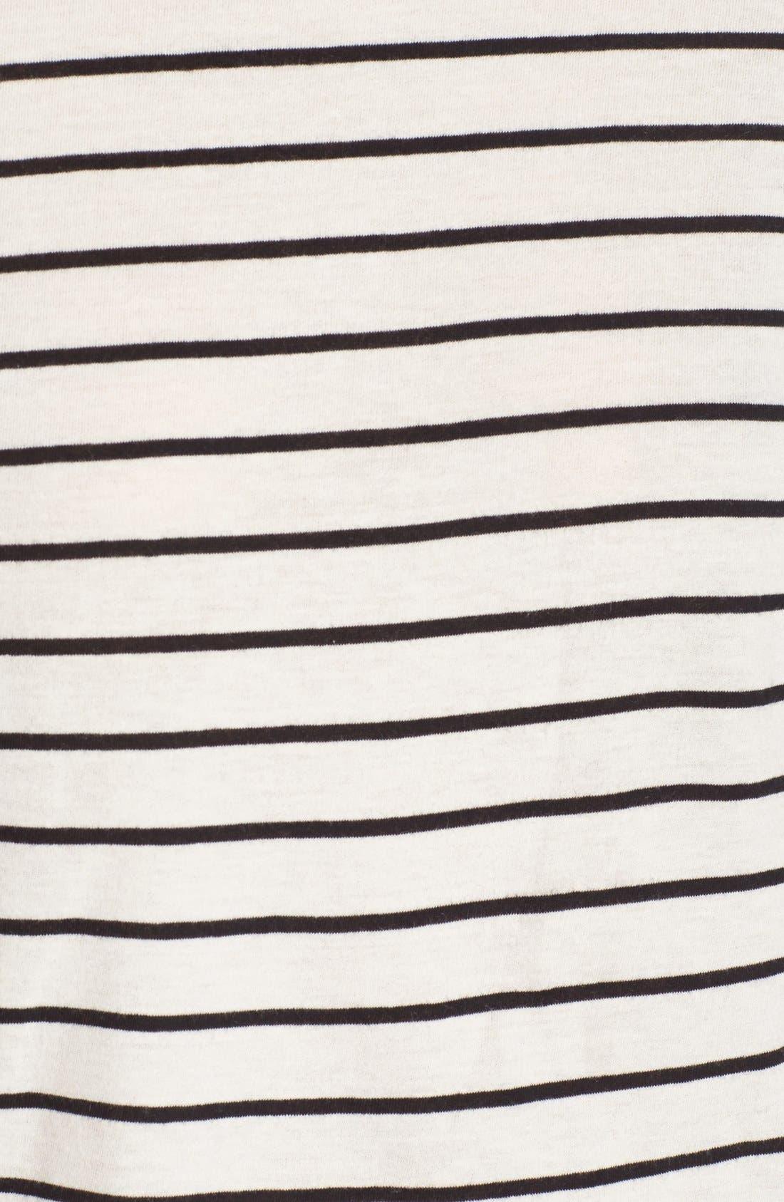 BP., Stripe Long Sleeve Mock Neck Tee, Alternate thumbnail 3, color, 900
