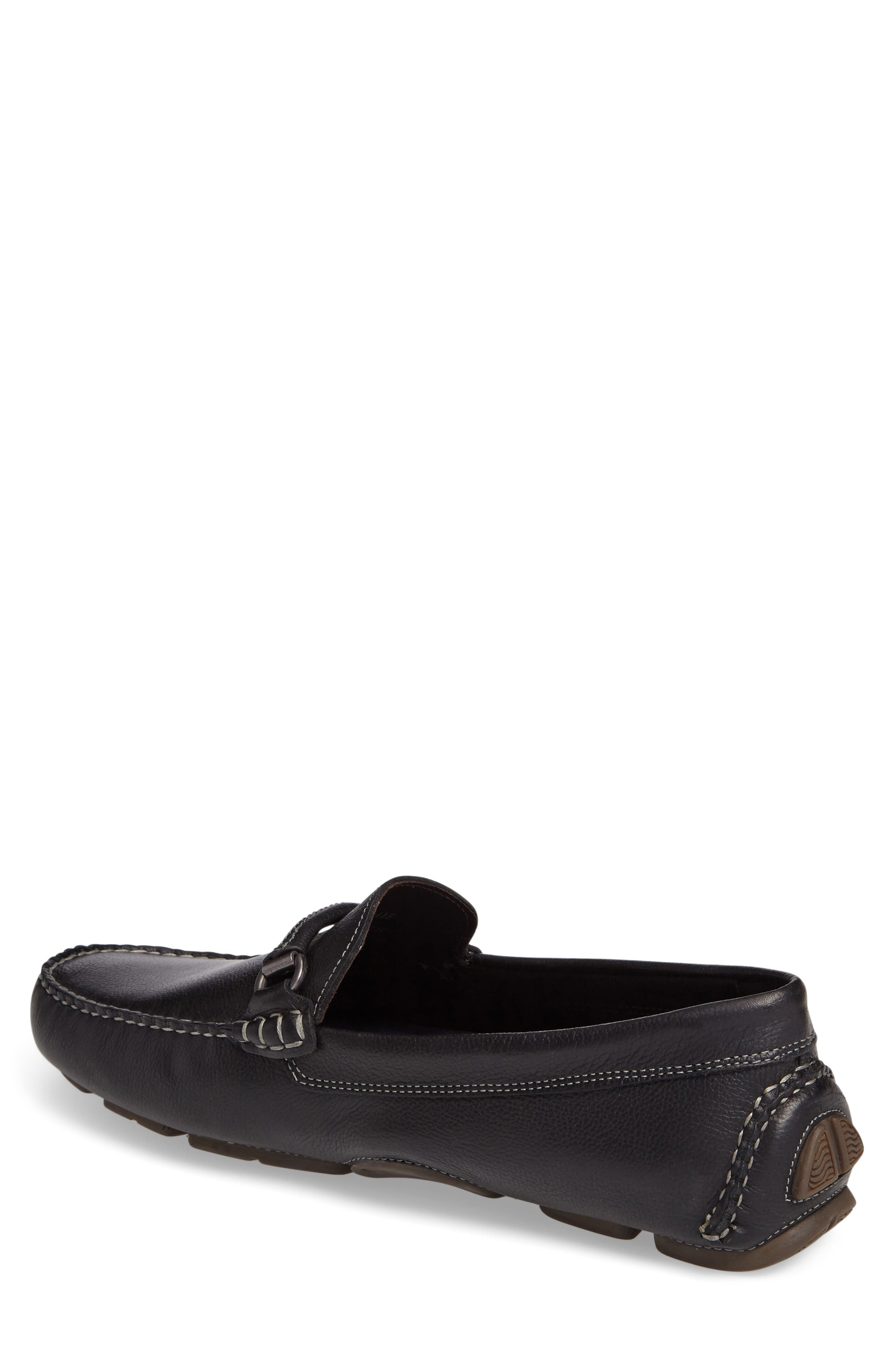 JOHNSTON & MURPHY, Gibson Bit Driving Loafer, Alternate thumbnail 2, color, BLACK LEATHER