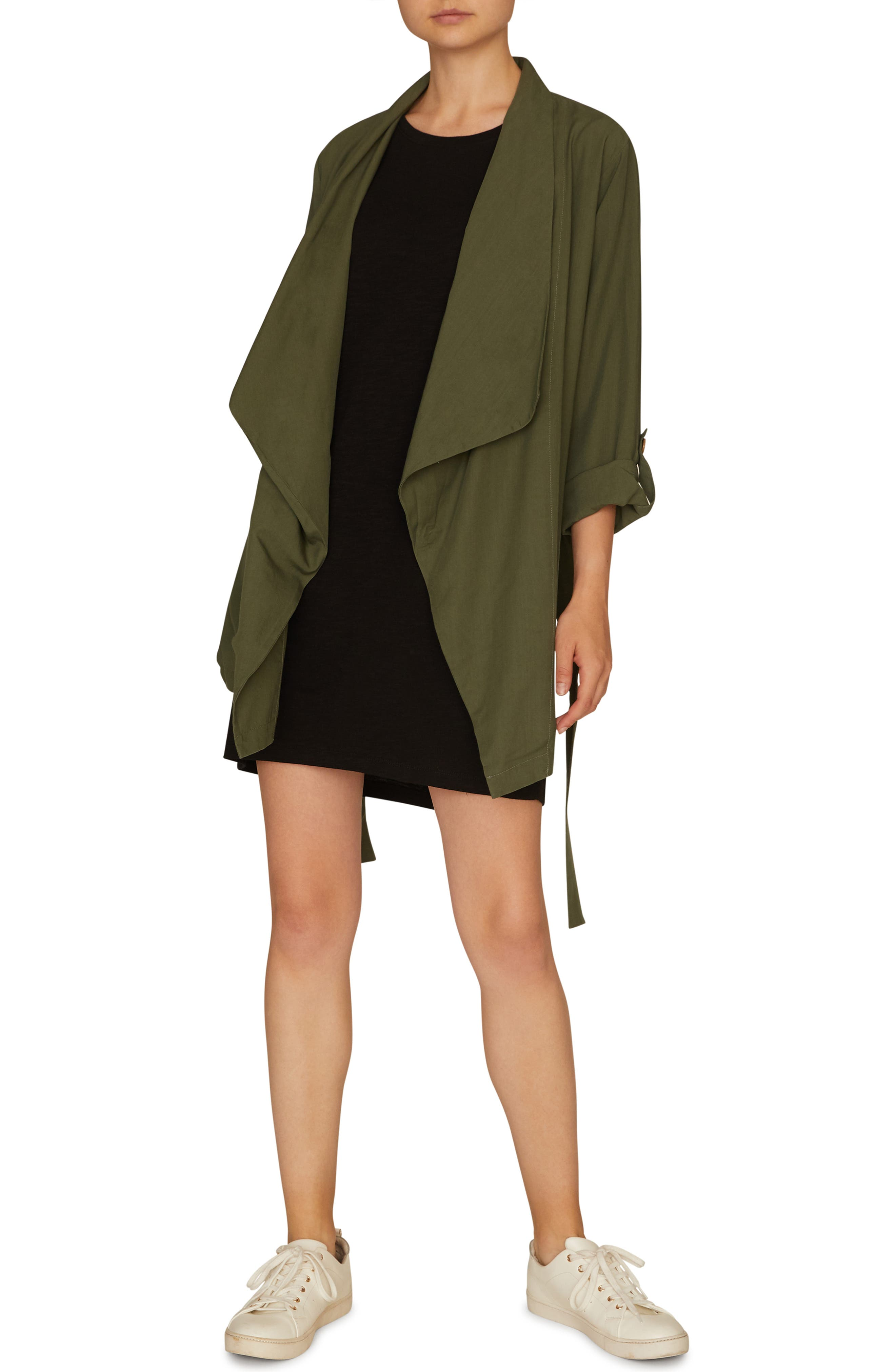 SANCTUARY, On-the-Go Jacket, Alternate thumbnail 4, color, PEACE GREEN