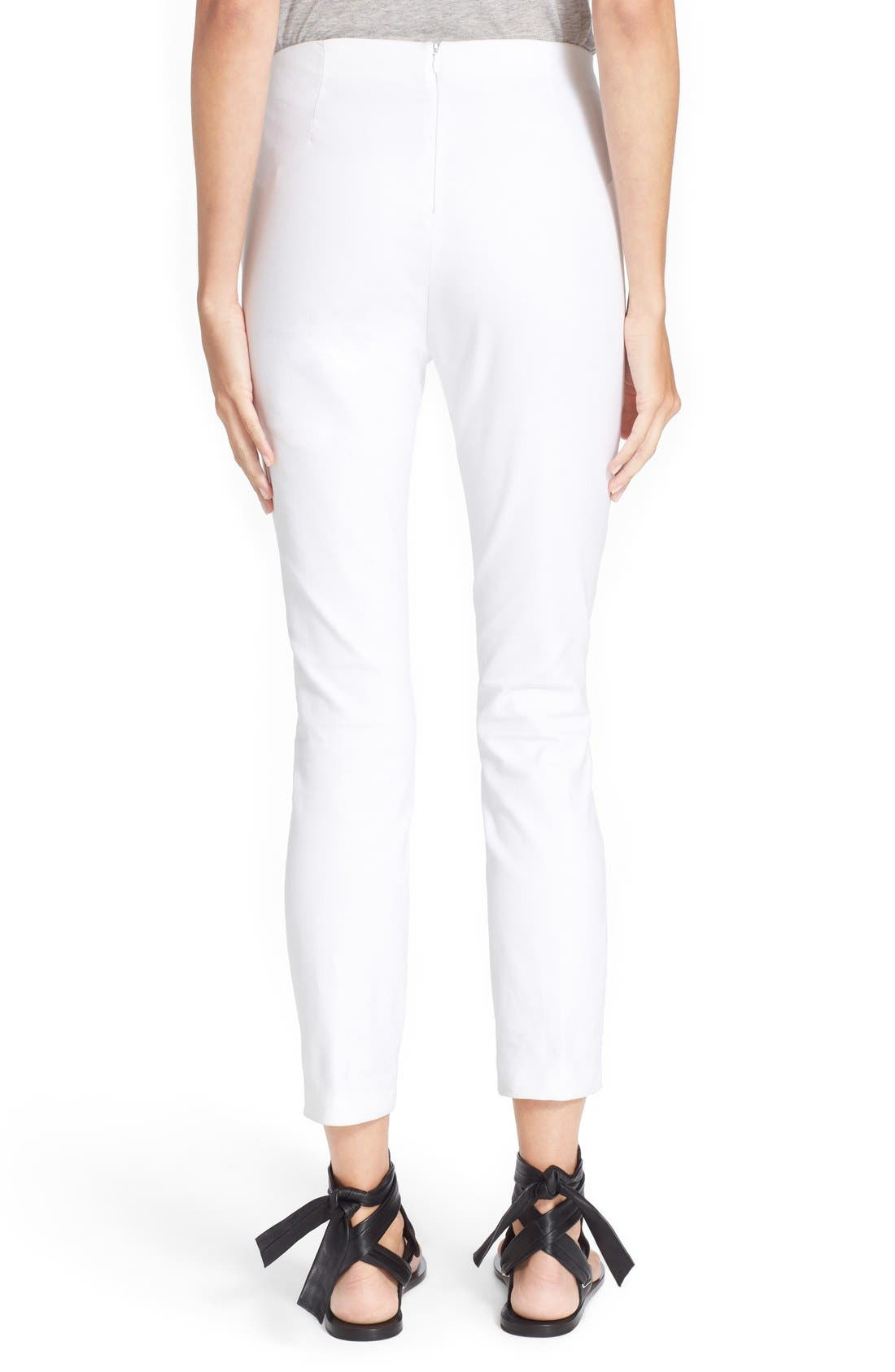 RAG & BONE, 'Simone' Slim Ankle Pants, Alternate thumbnail 13, color, WHITE