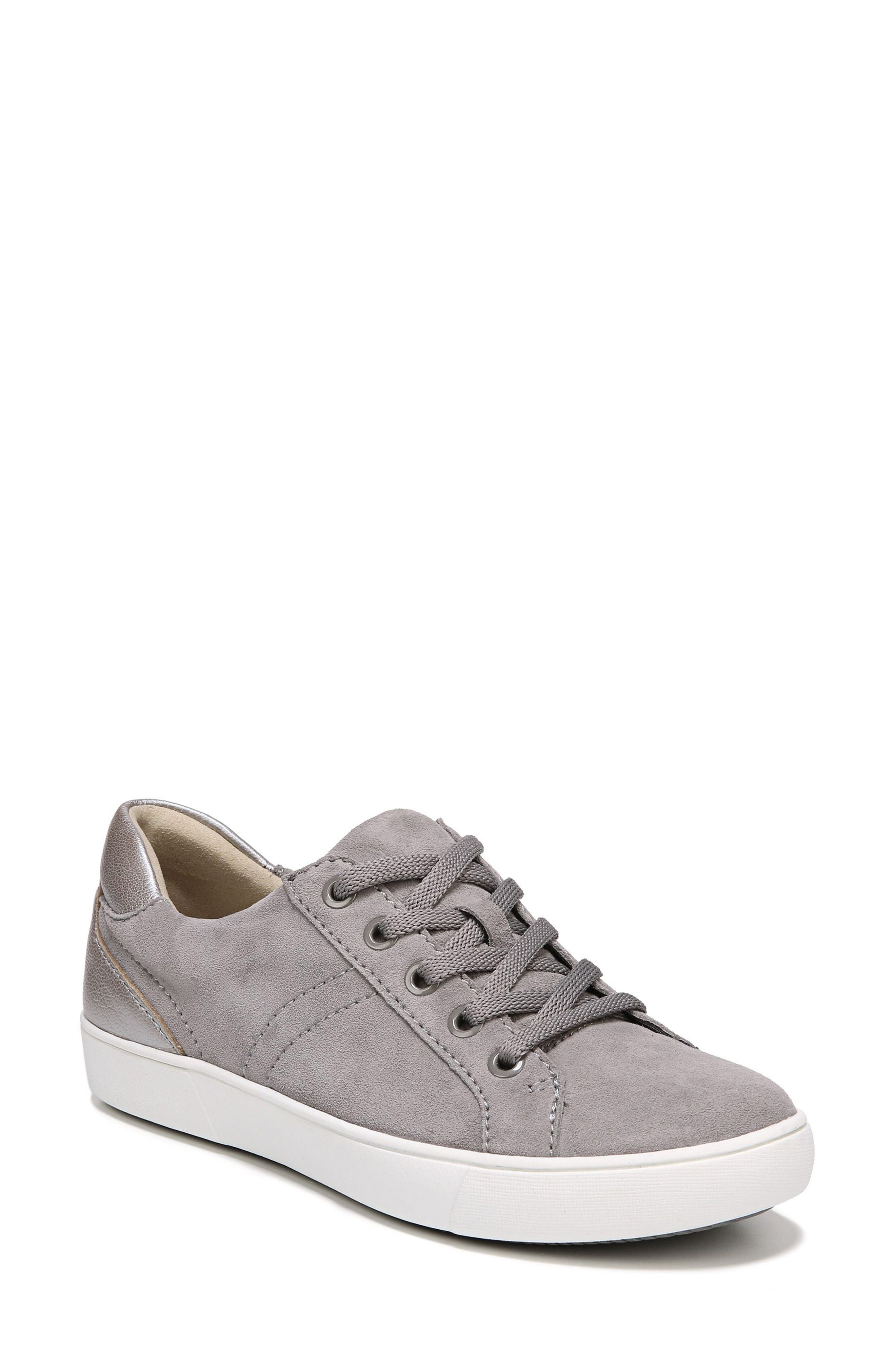 NATURALIZER, Morrison Sneaker, Main thumbnail 1, color, GREY SUEDE