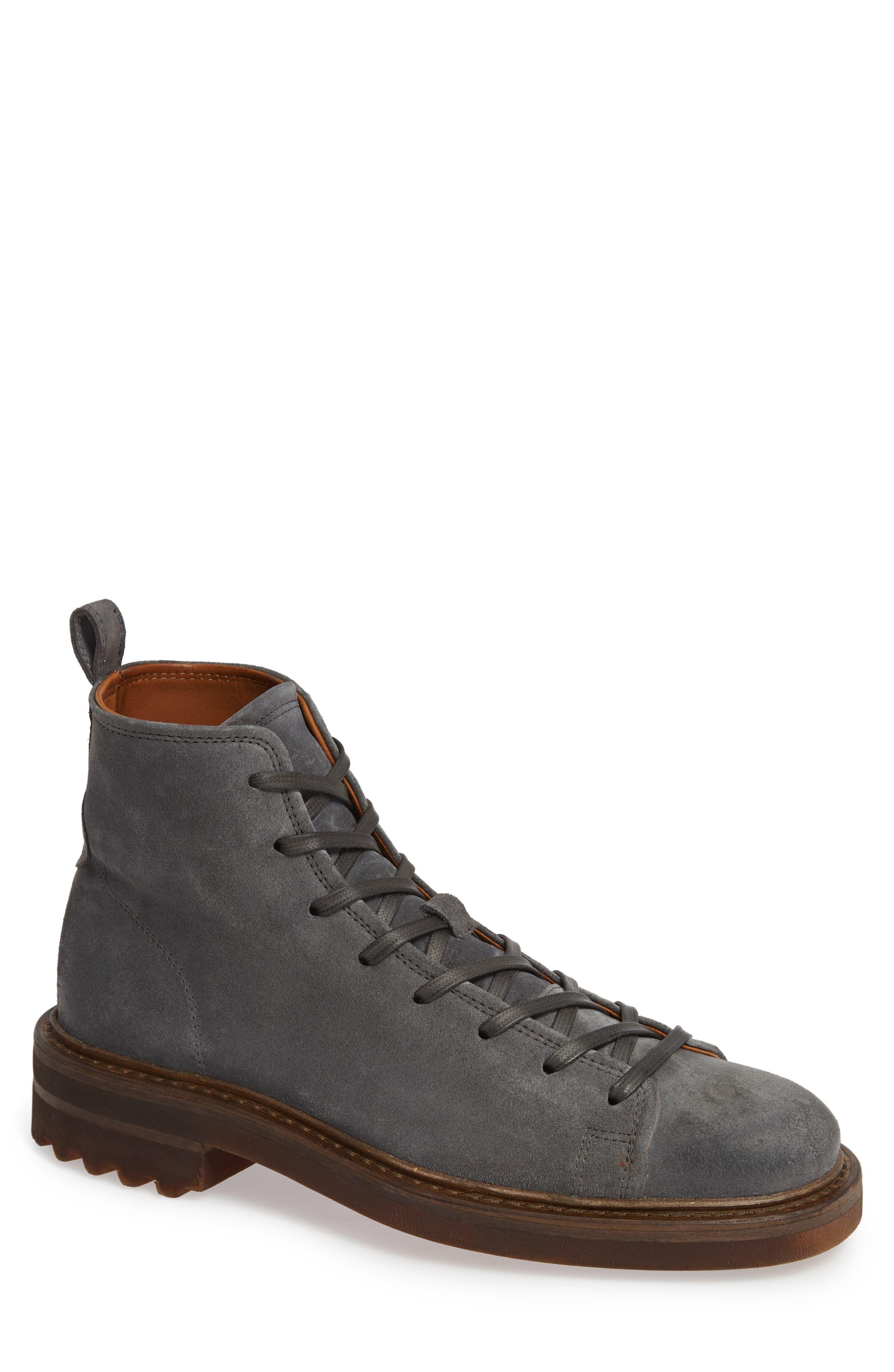 John Varvatos Collection Essex Plain Toe Boot, Grey
