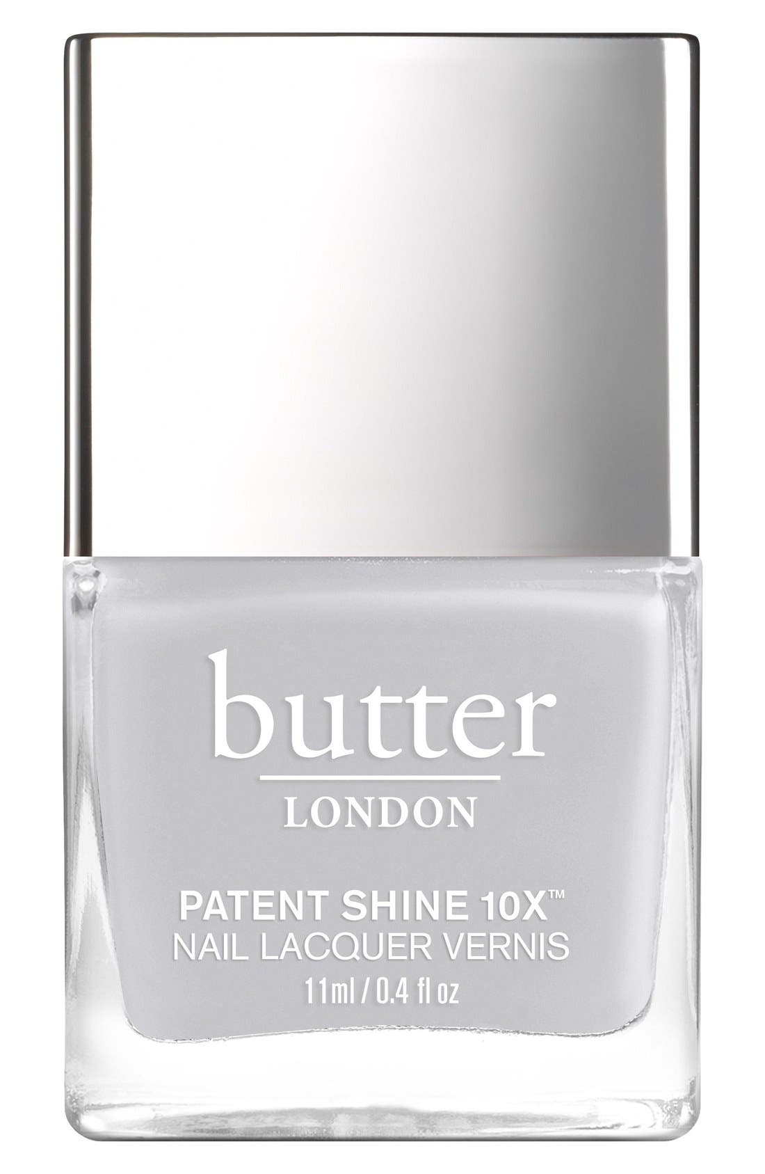 BUTTER LONDON, 'Patent Shine 10X<sup>®</sup>' Nail Lacquer, Main thumbnail 1, color, 020