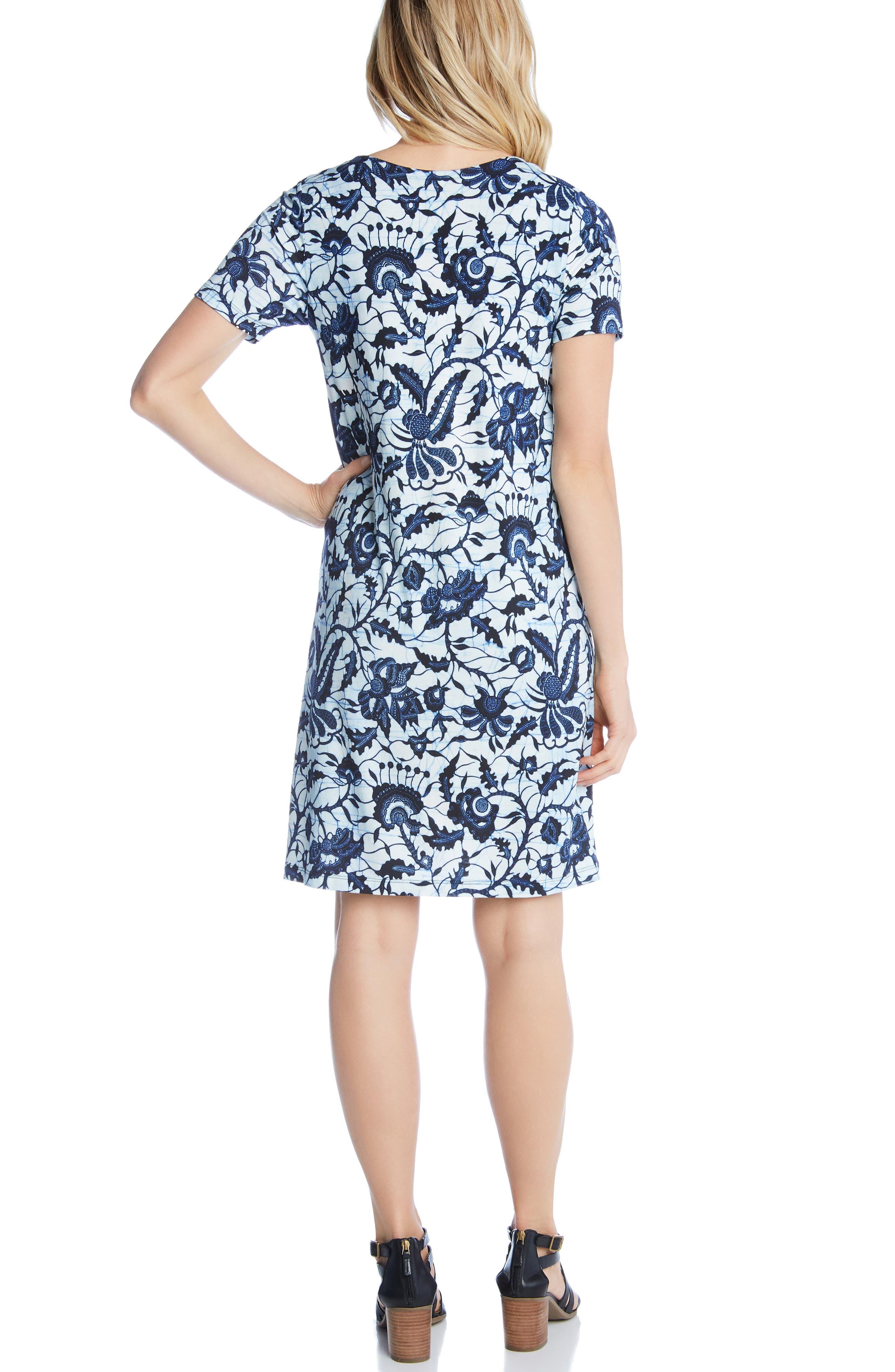 KAREN KANE, Abby V-Neck Dress, Alternate thumbnail 2, color, 400