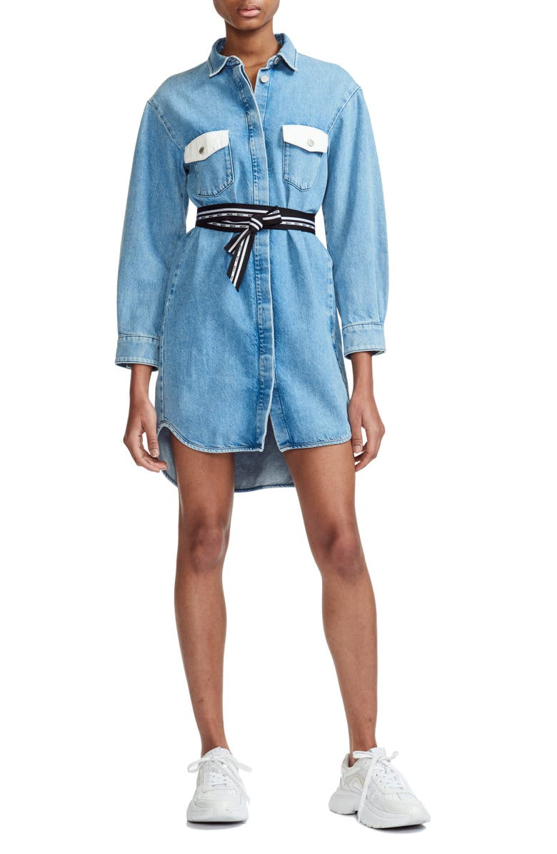 Maje Dresses Relmi Denim Shirtdress