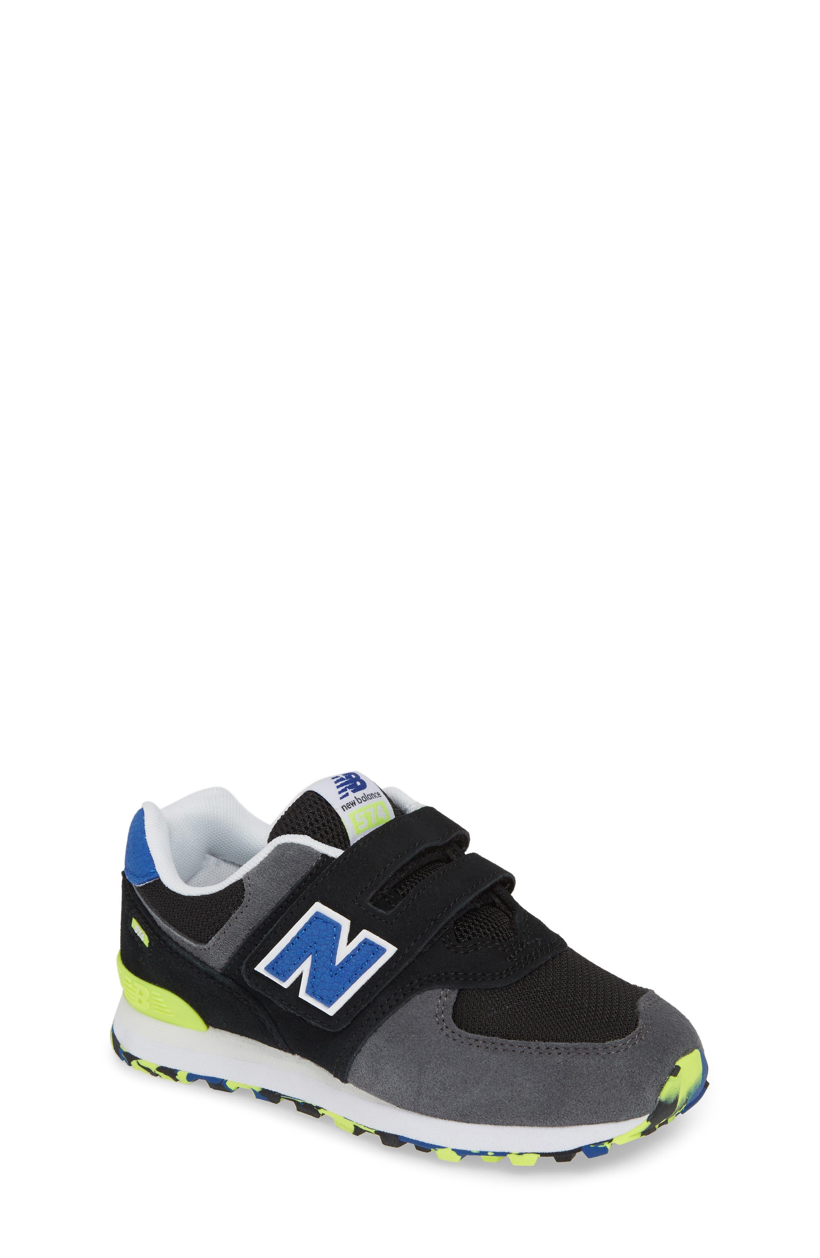 NEW BALANCE, 574 Sneaker, Main thumbnail 1, color, BLACK/ BLACK