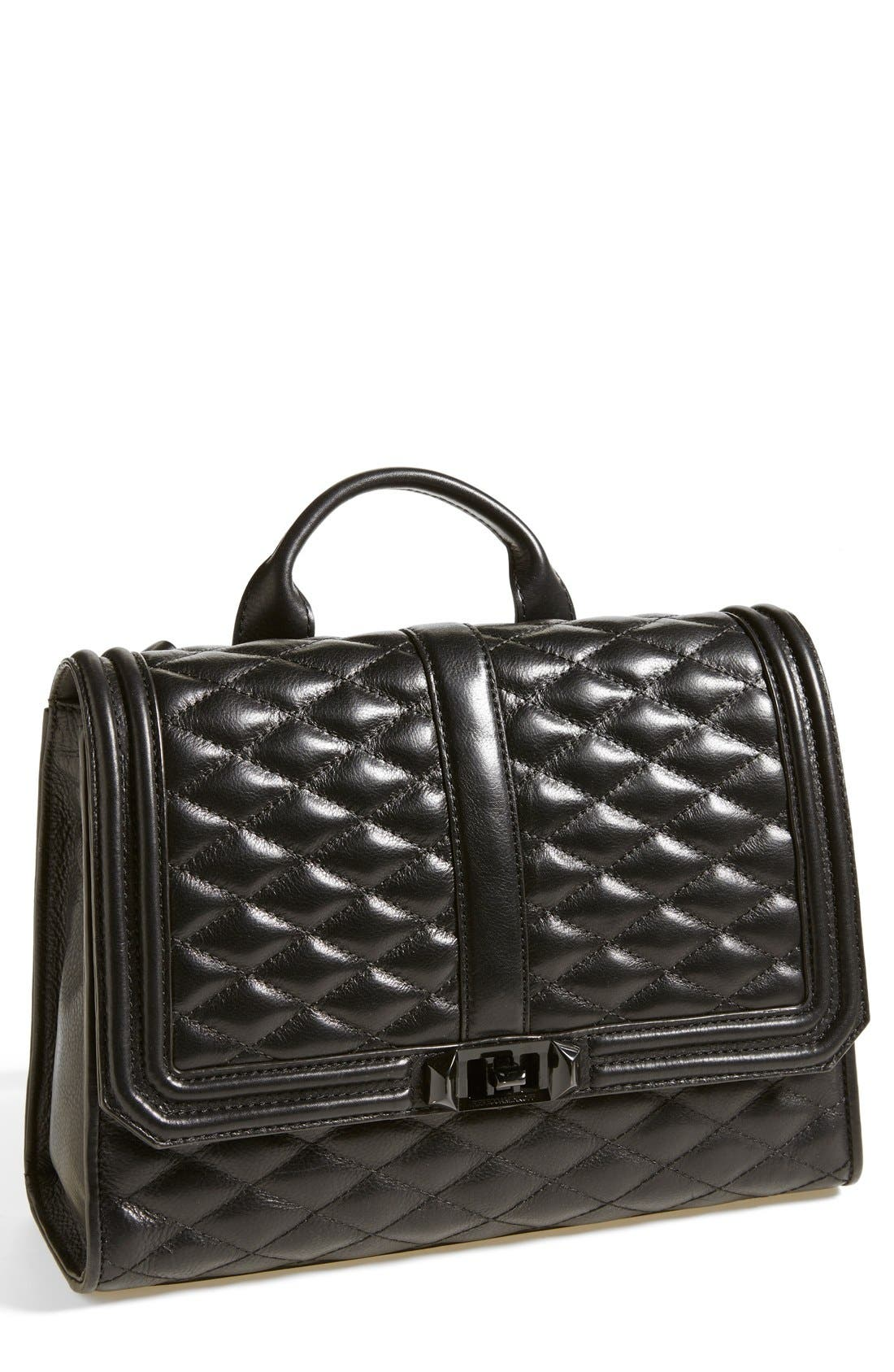 REBECCA MINKOFF, 'Quilted Love' Backpack, Main thumbnail 1, color, 001