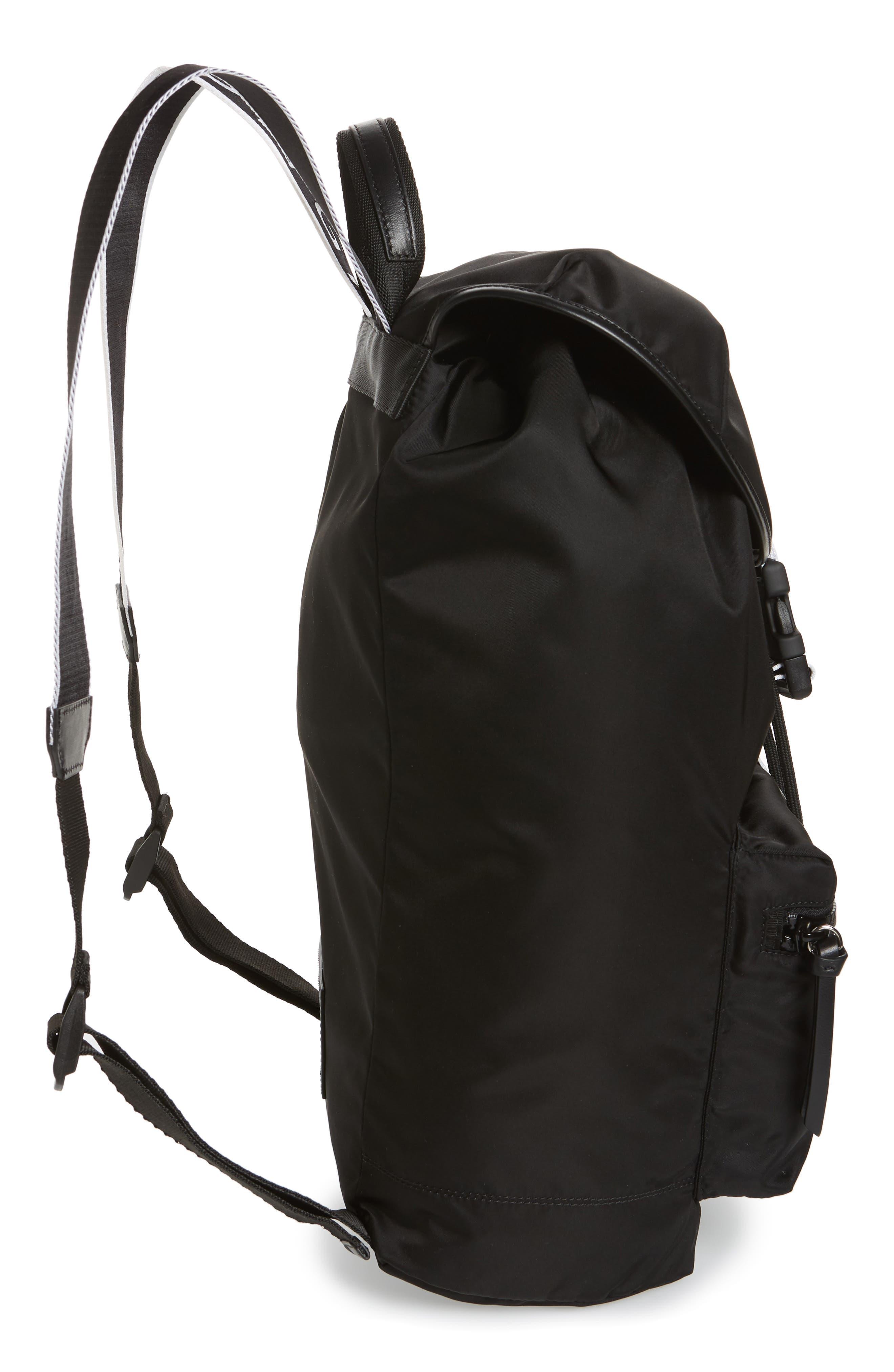 GIVENCHY, Light 3 Backpack, Alternate thumbnail 5, color, BLACK/ WHITE