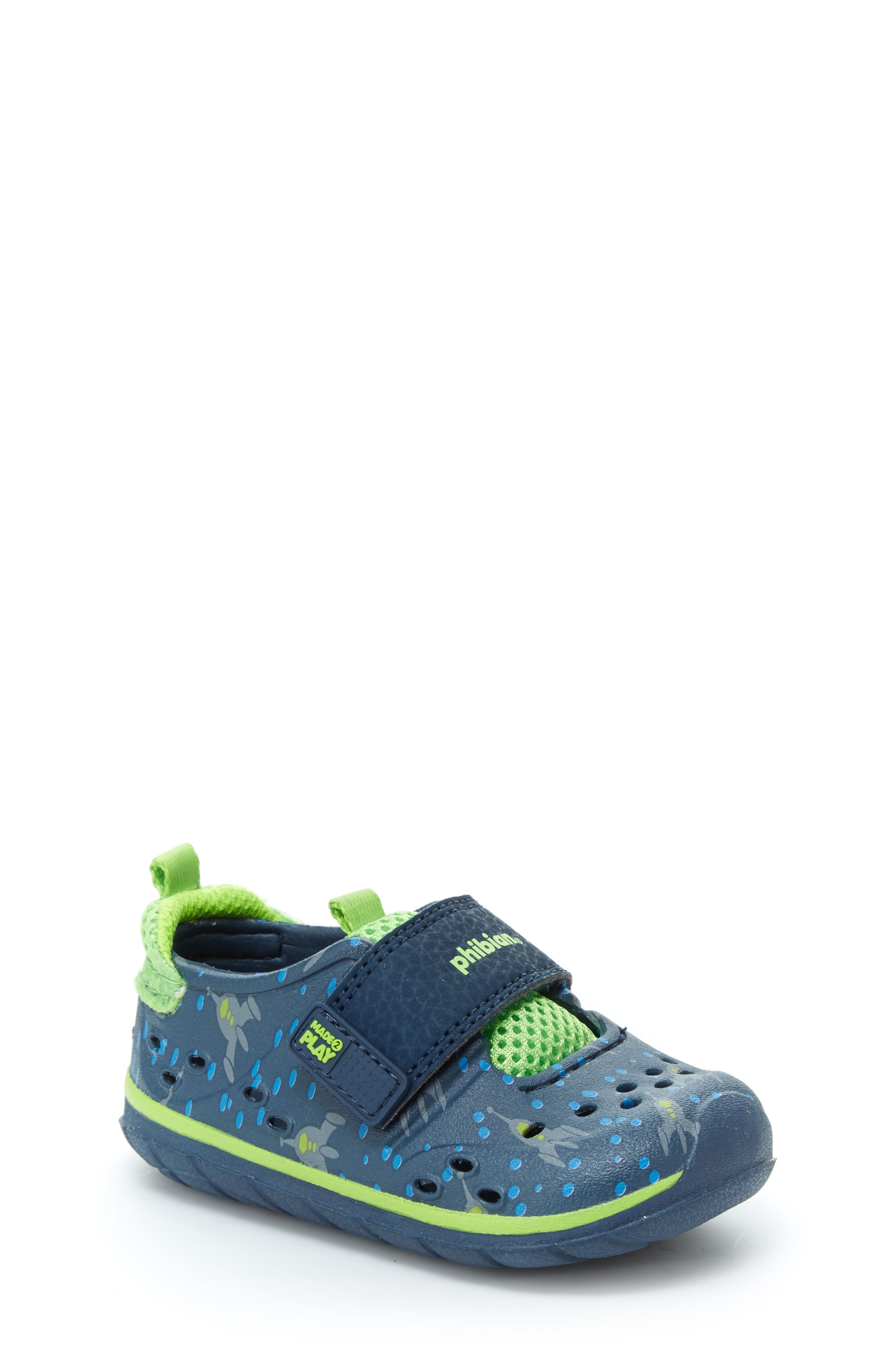STRIDE RITE, Made2Play<sup>®</sup> Phibian Sneaker, Main thumbnail 1, color, NAVY ROCKET SHIP