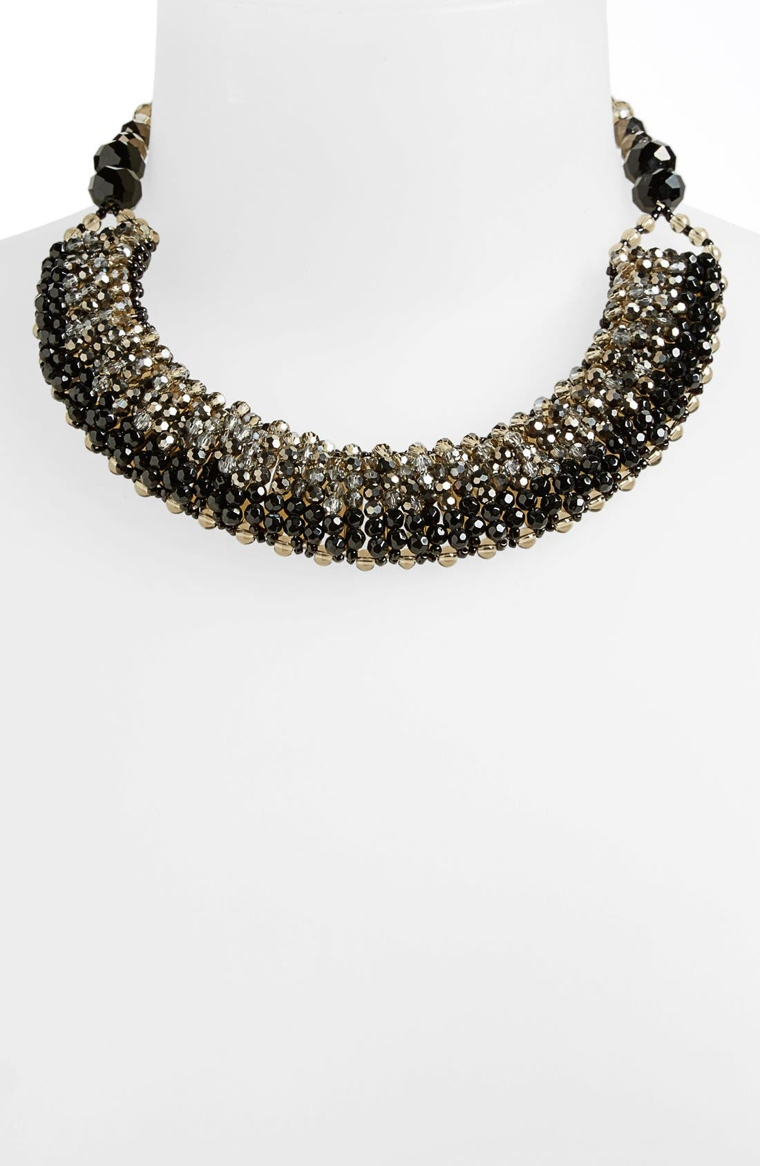 NAKAMOL DESIGN, 'Half Line Couture' Collar Necklace, Alternate thumbnail 2, color, 001