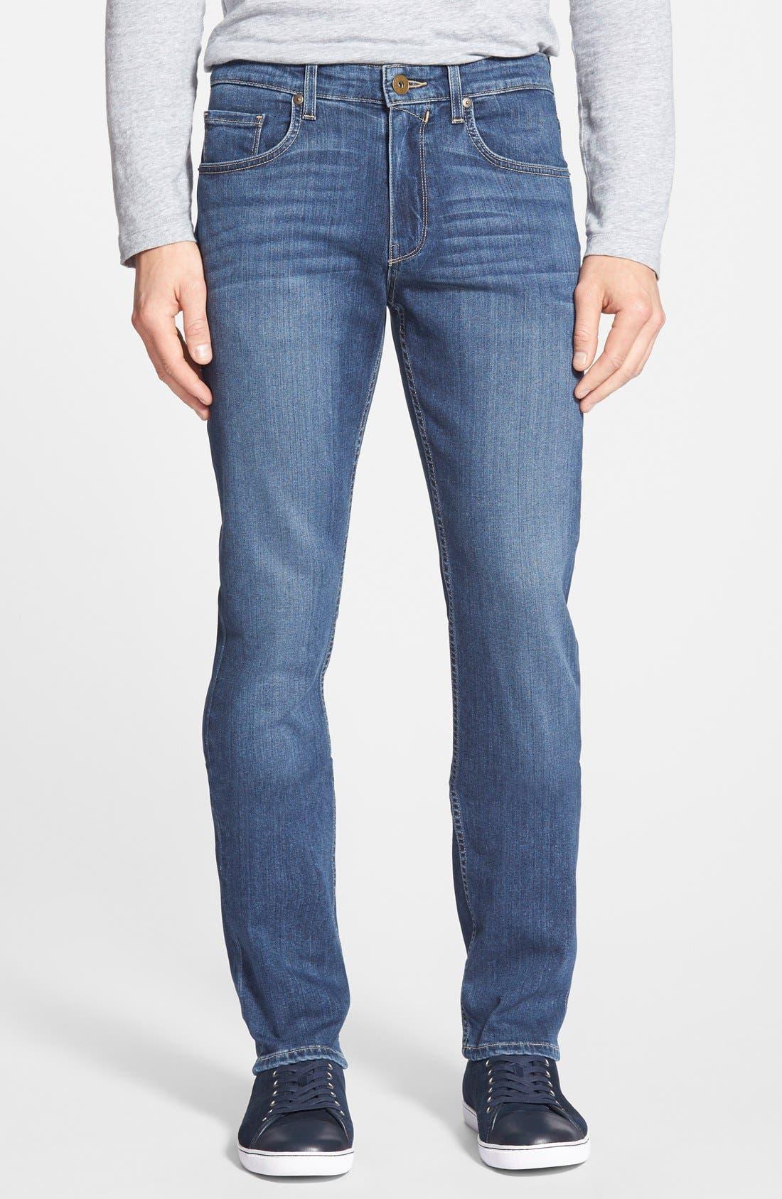 PAIGE, Transcend - Federal Slim Straight Leg Jeans, Main thumbnail 1, color, BIRCH