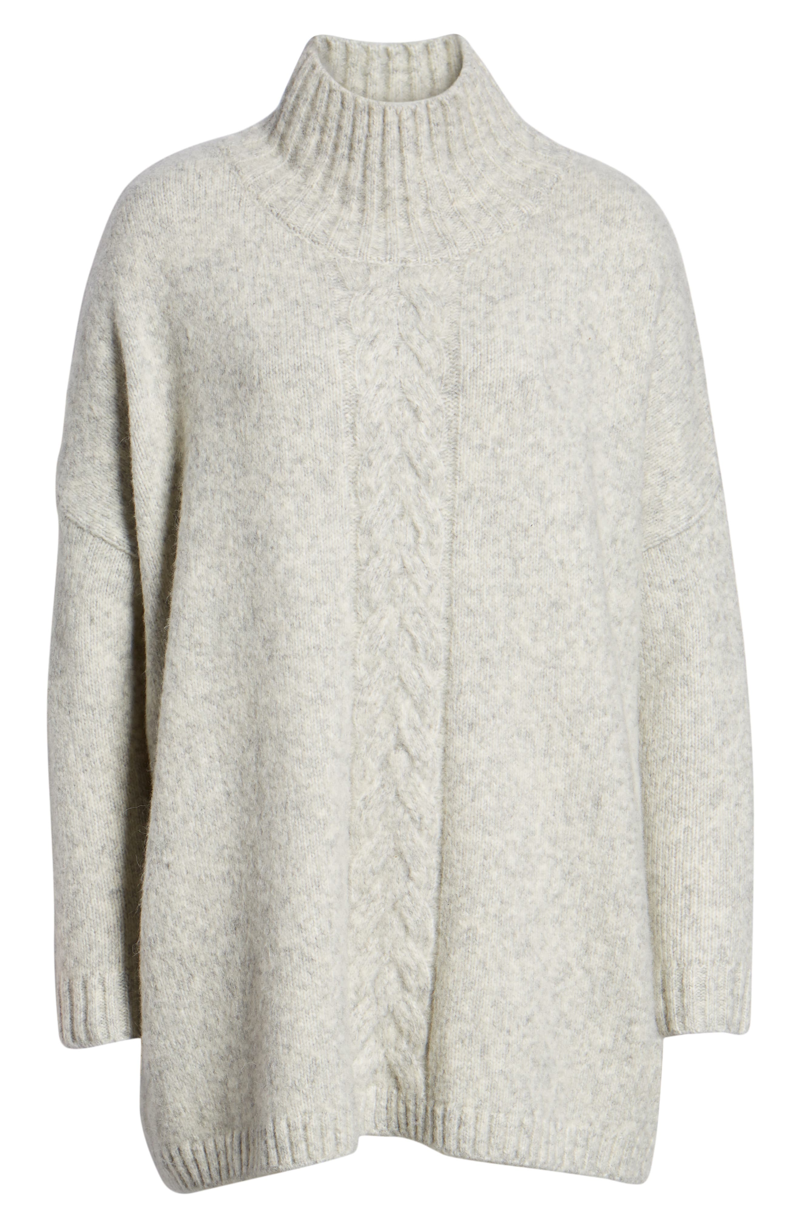 FRENCH CONNECTION, Ora Knit Pullover, Alternate thumbnail 6, color, LIGHT GREY MEL