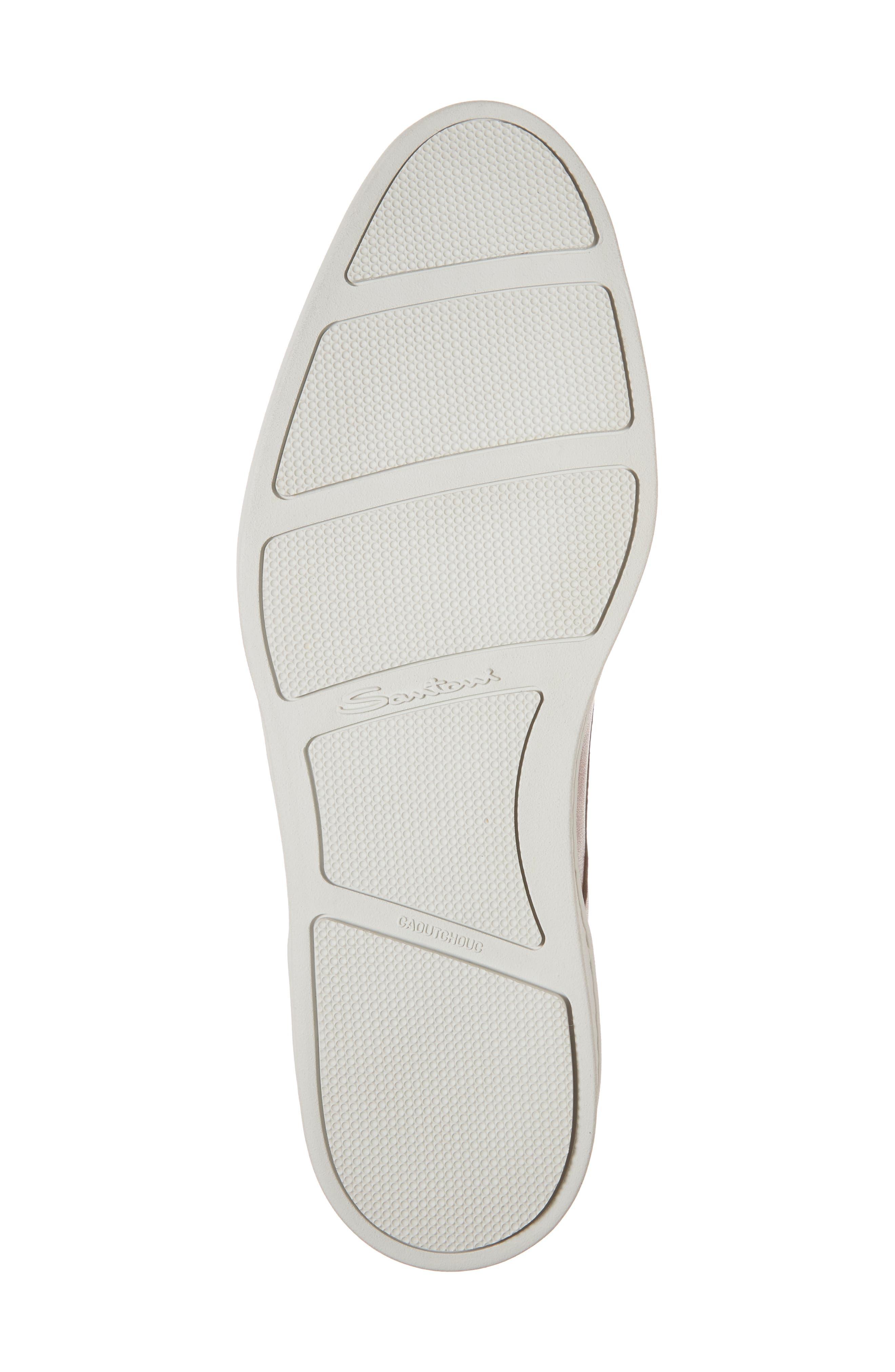 SANTONI, Doyle Plain Toe Derby Sneaker, Alternate thumbnail 6, color, TAN