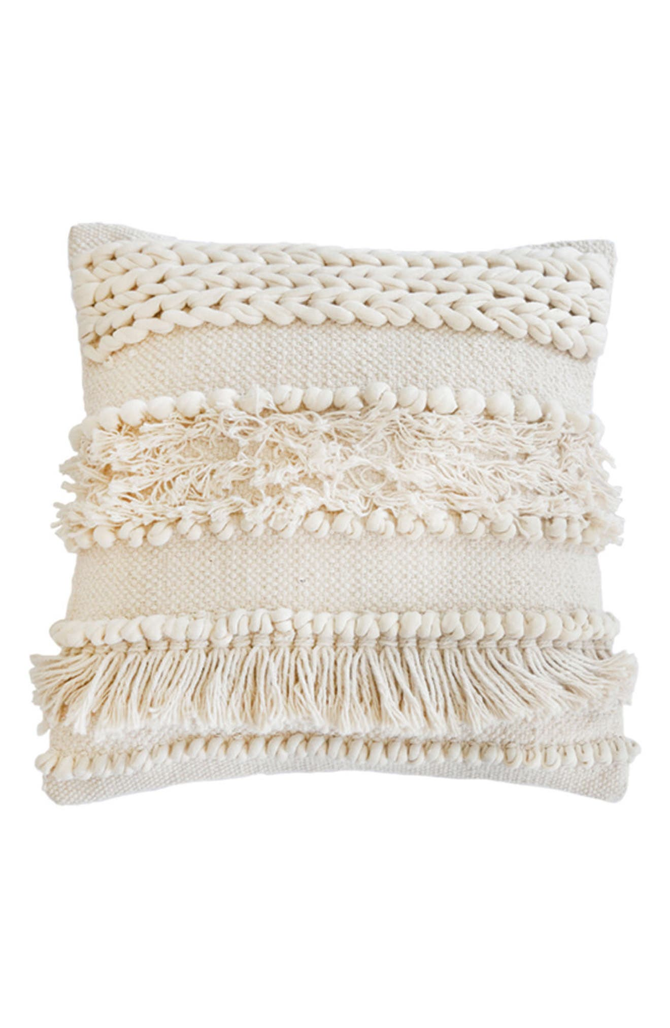POM POM AT HOME, Iman Accent Pillow, Main thumbnail 1, color, IVORY