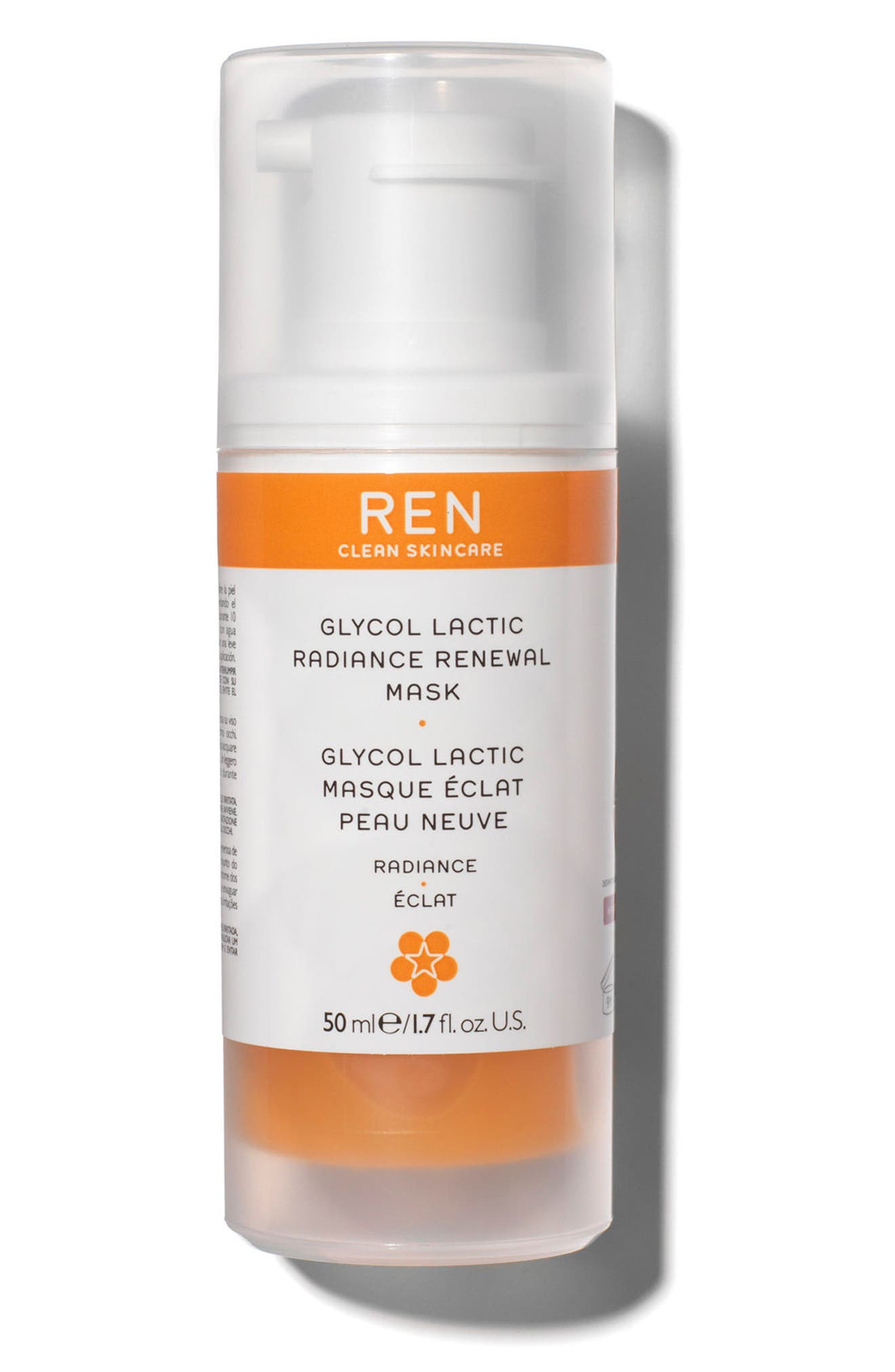 REN SPACE.NK.apothecary REN Glycol Lactic Radiance Renewal Mask, Main, color, NO COLOR